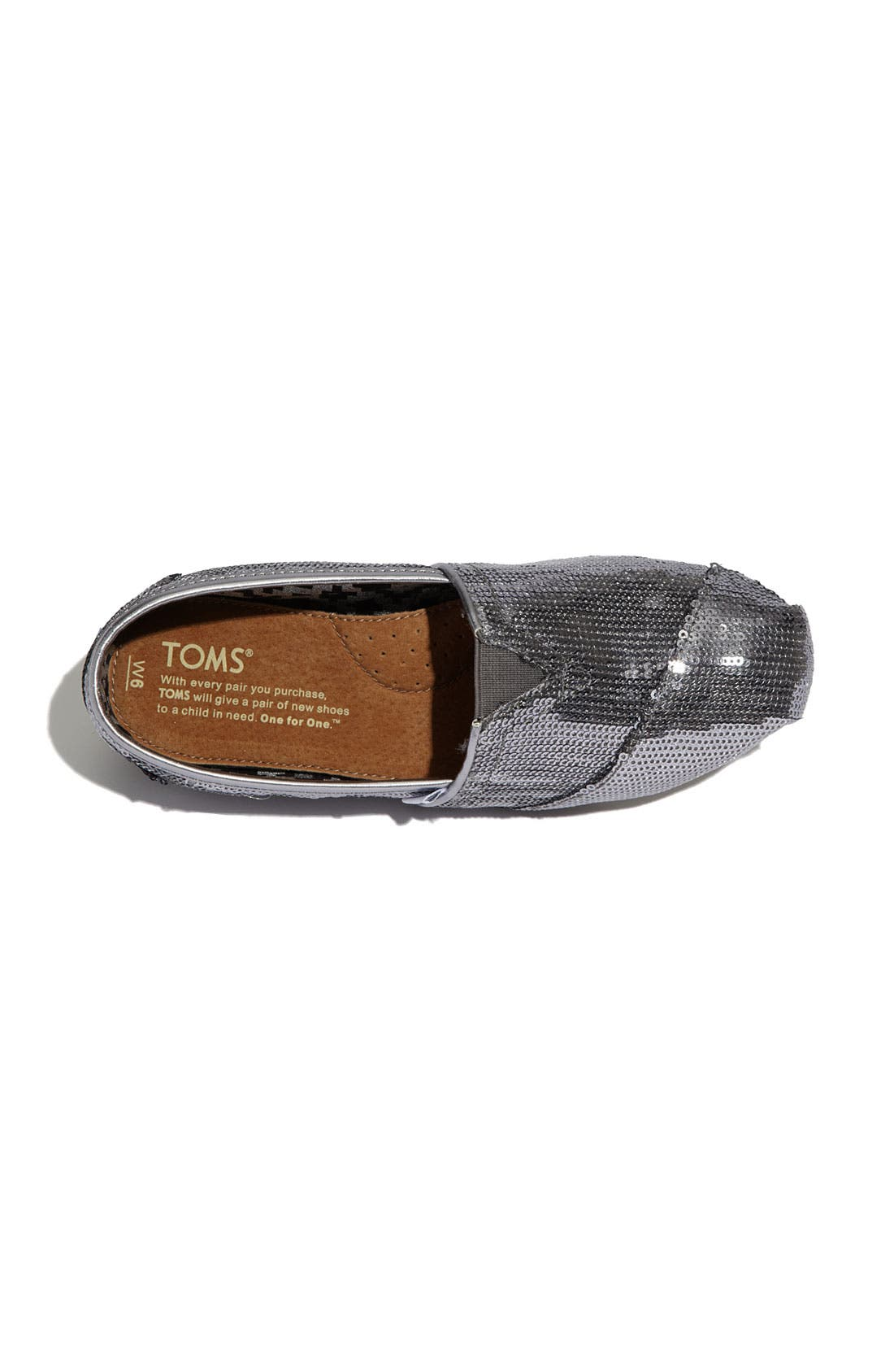 Alternate Image 3  - TOMS 'Classic - Sequins' Slip-On (Women)