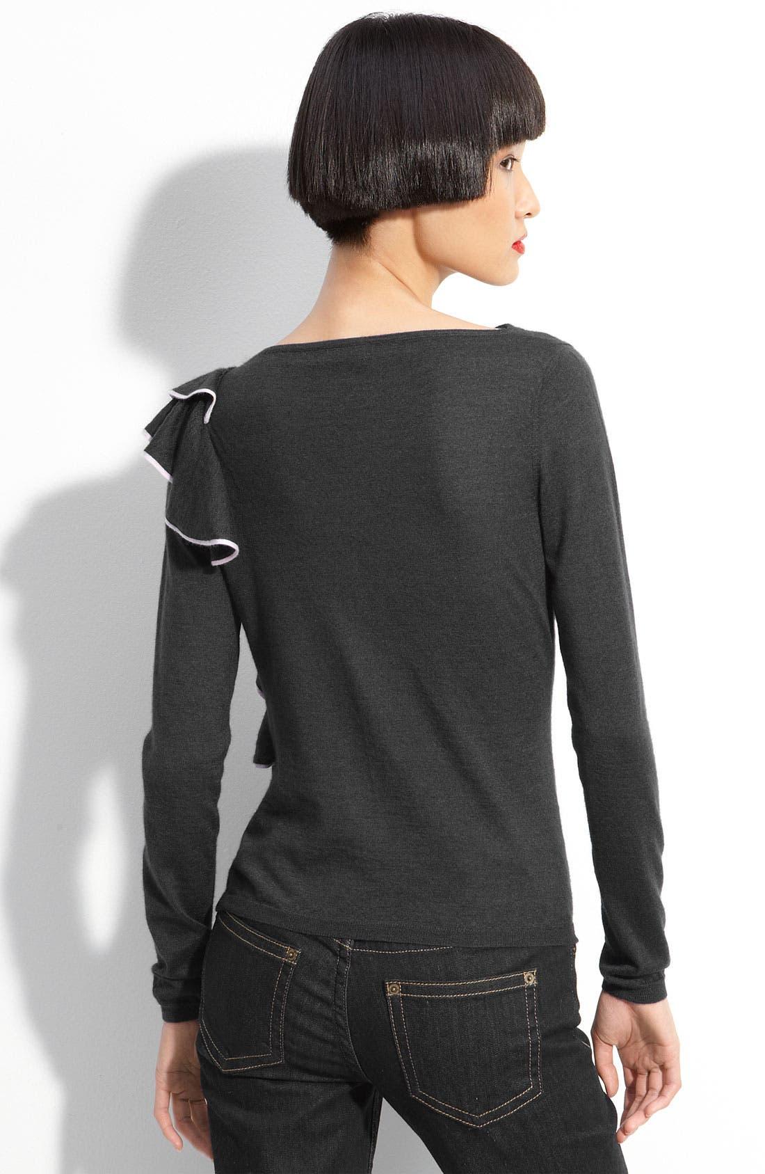 Alternate Image 2  - RED Valentino Ruffle Sweater
