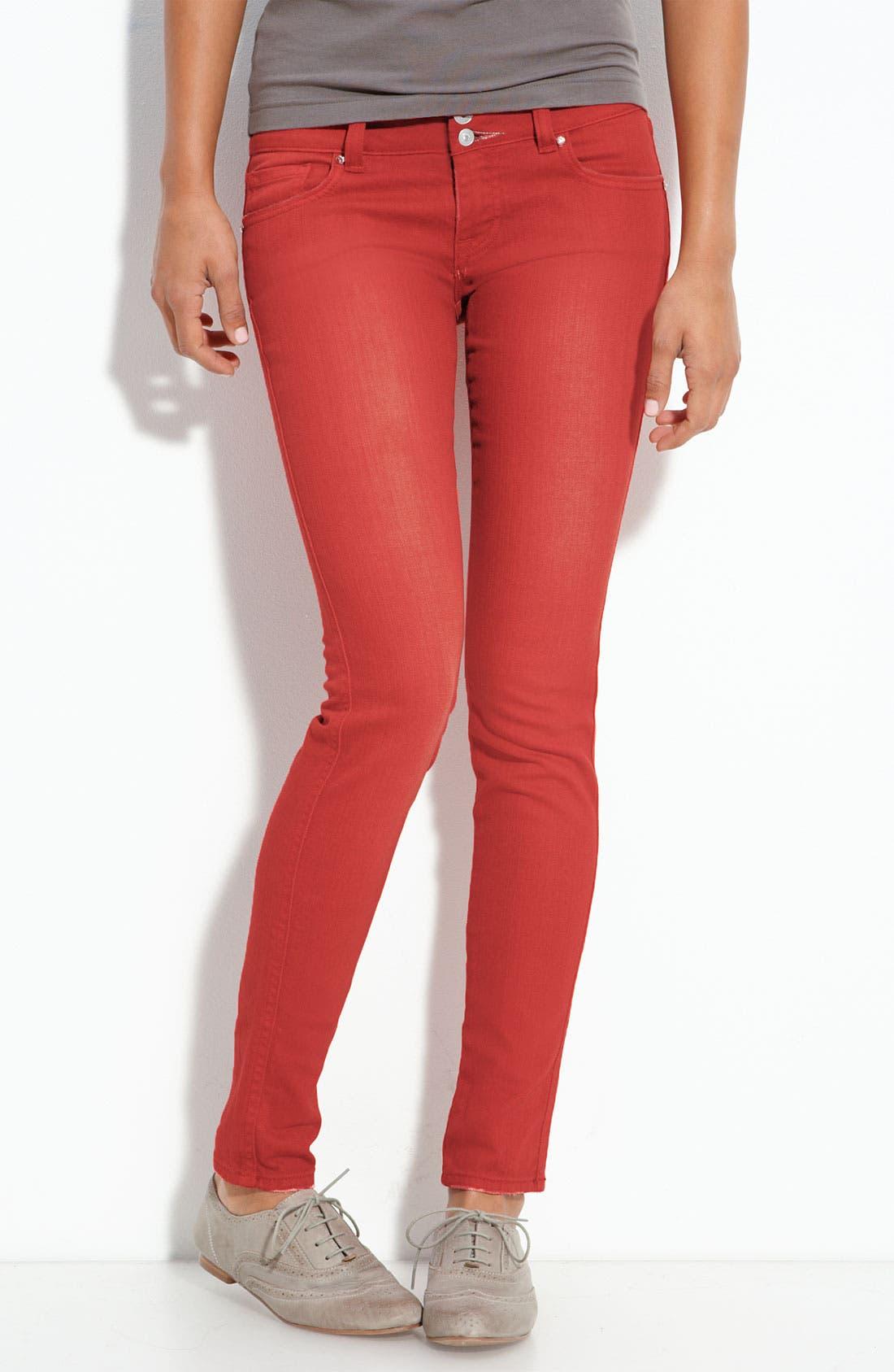 Alternate Image 2  - Vigoss Color Skinny Jeans (Juniors)