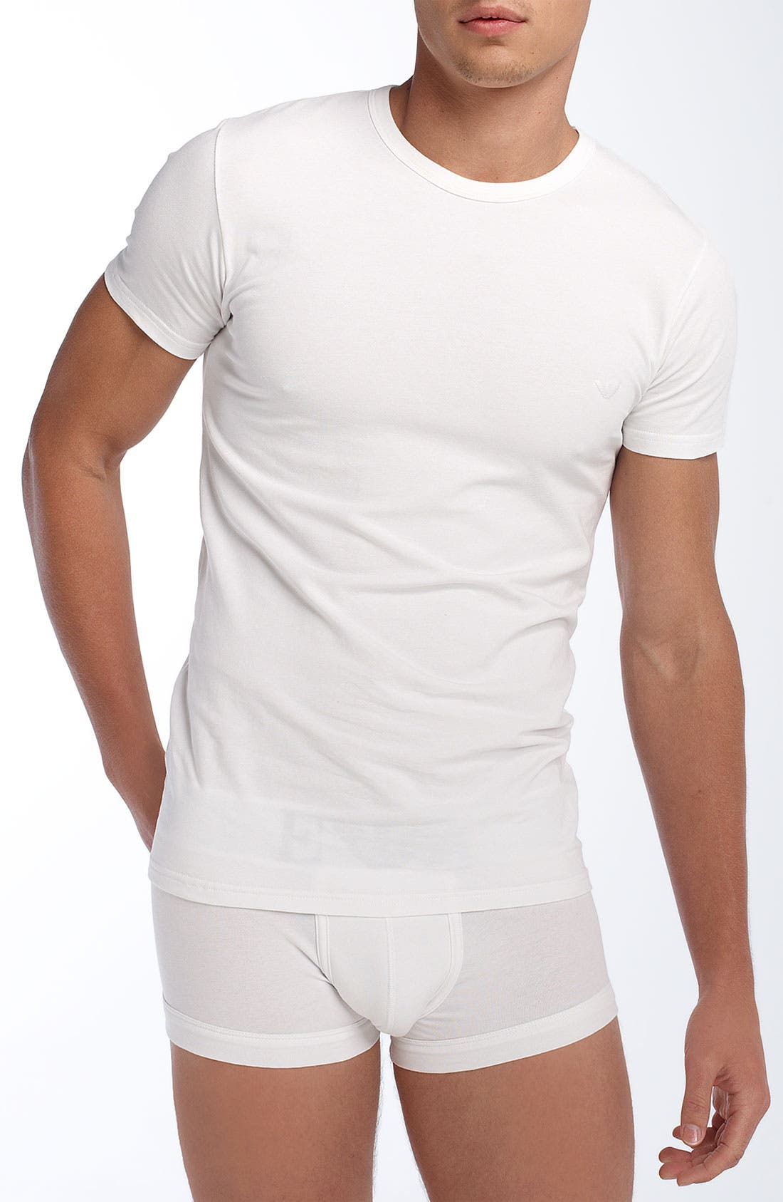 Alternate Image 1 Selected - Emporio Armani Crewneck Cotton T-Shirt