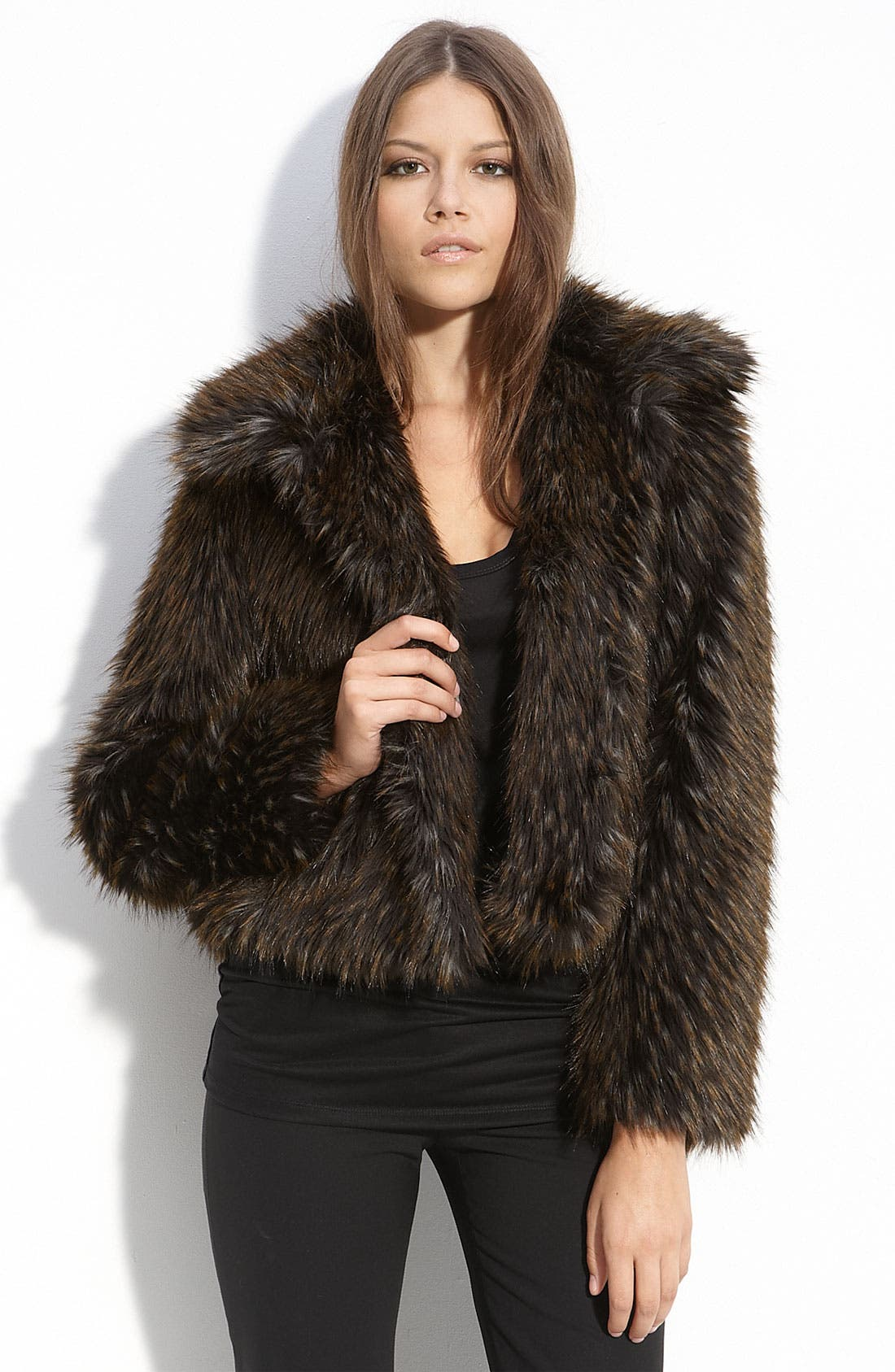 Main Image - Gallery Faux Fur Jacket