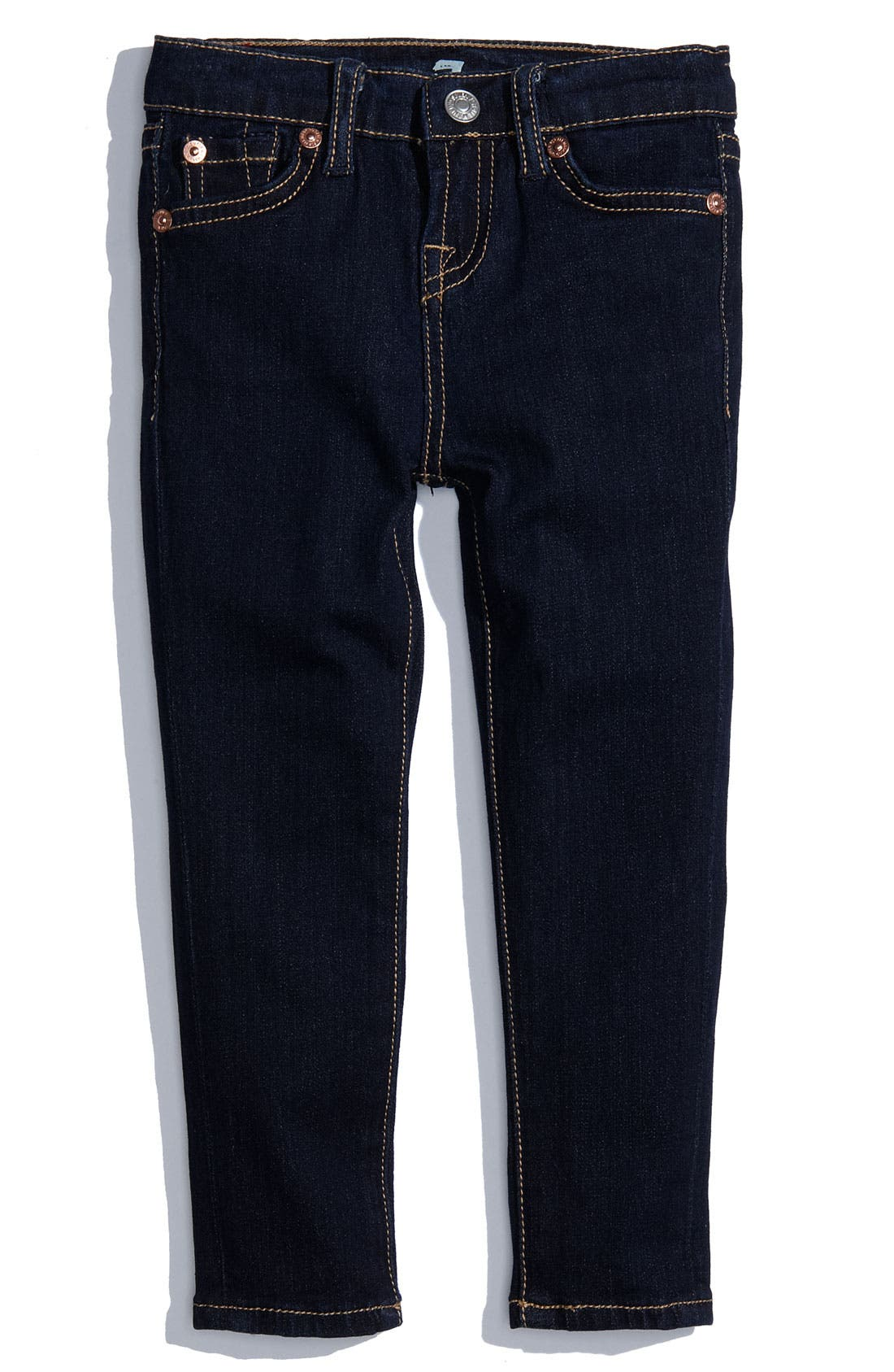 Alternate Image 2  - 7 For All Mankind® Skinny Denim Jeans (Toddler)