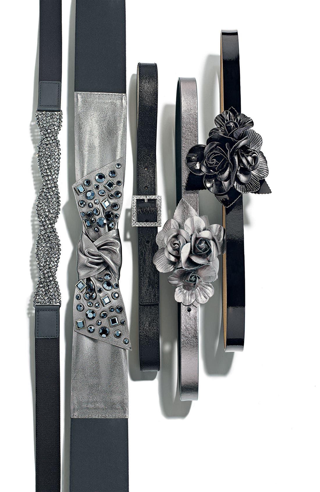 Alternate Image 2  - Tarnish 'Flower' Faux Leather Belt