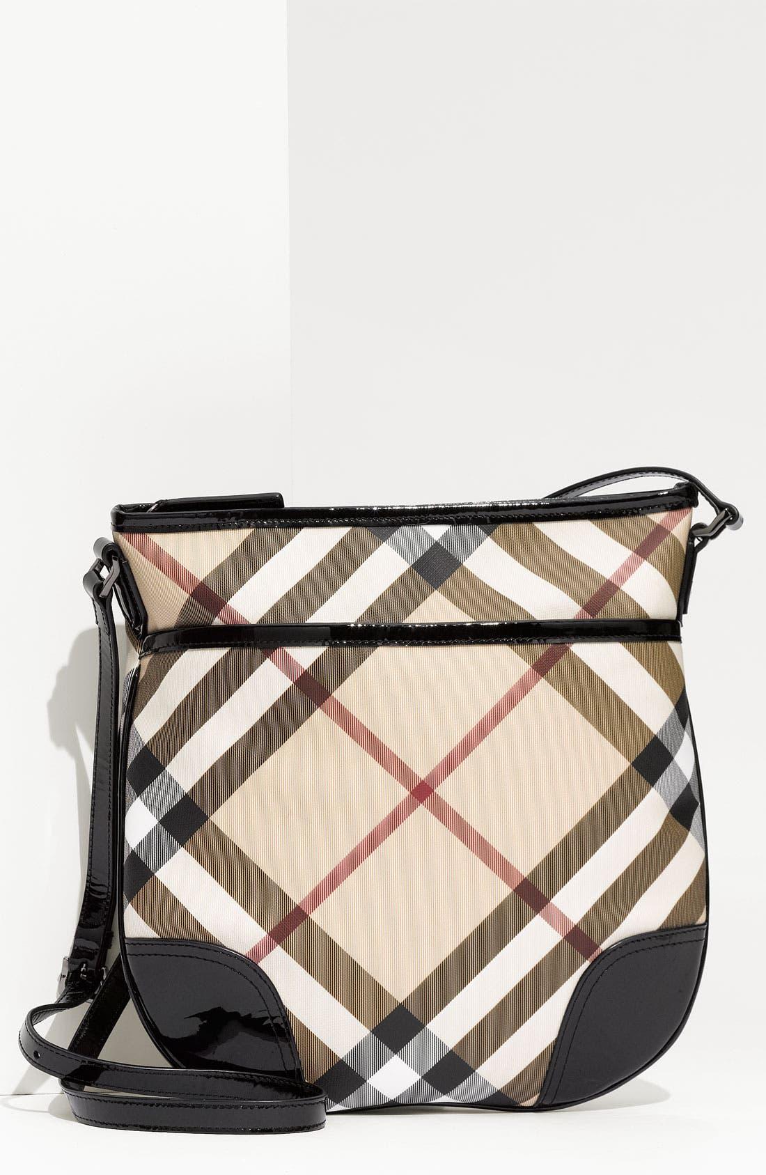 Alternate Image 1 Selected - Burberry 'Nova Check' Crossbody Bag