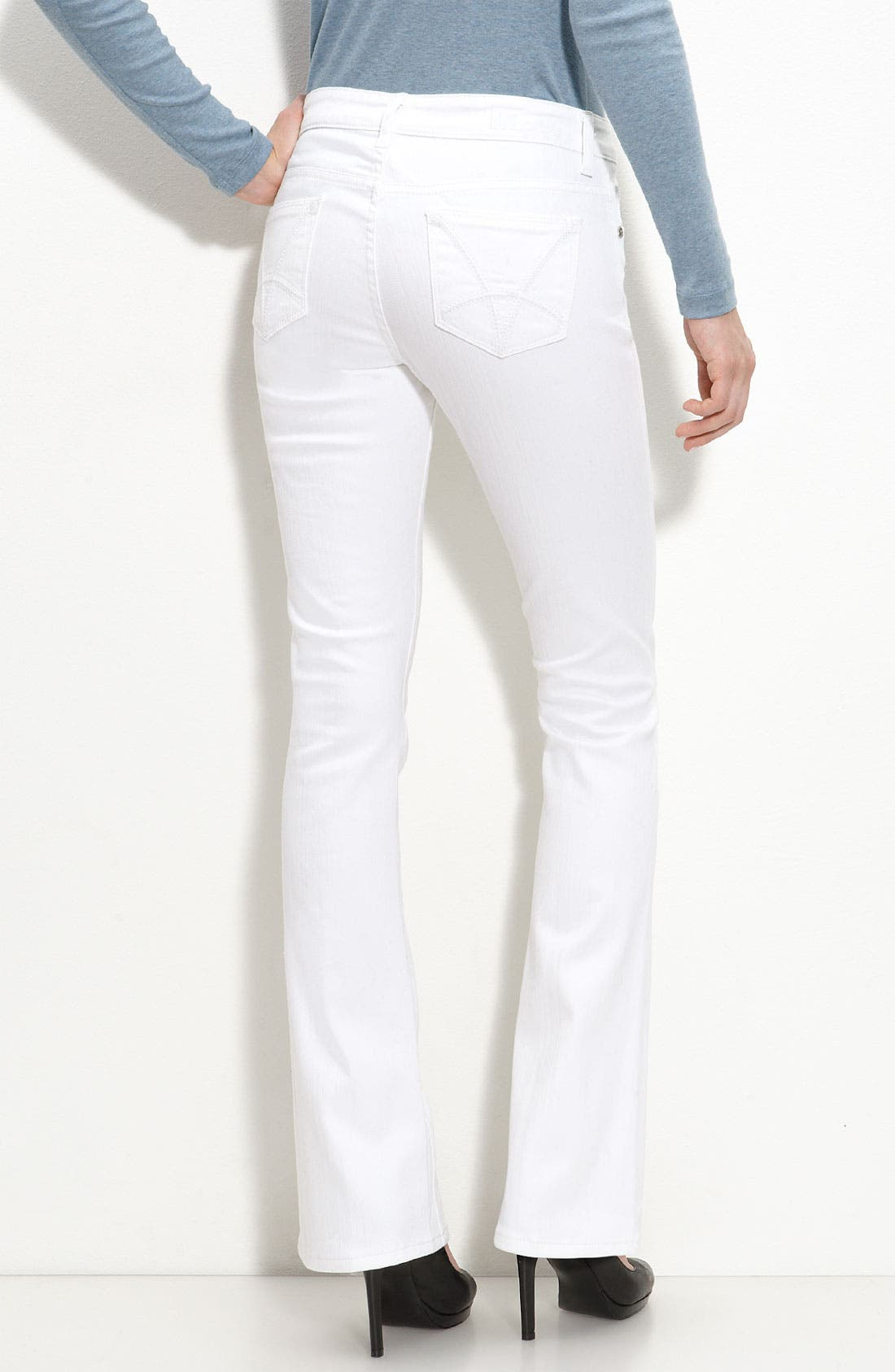 Alternate Image 1 Selected - KUT from the Kloth Baby Bootcut Jeans (White Wash)