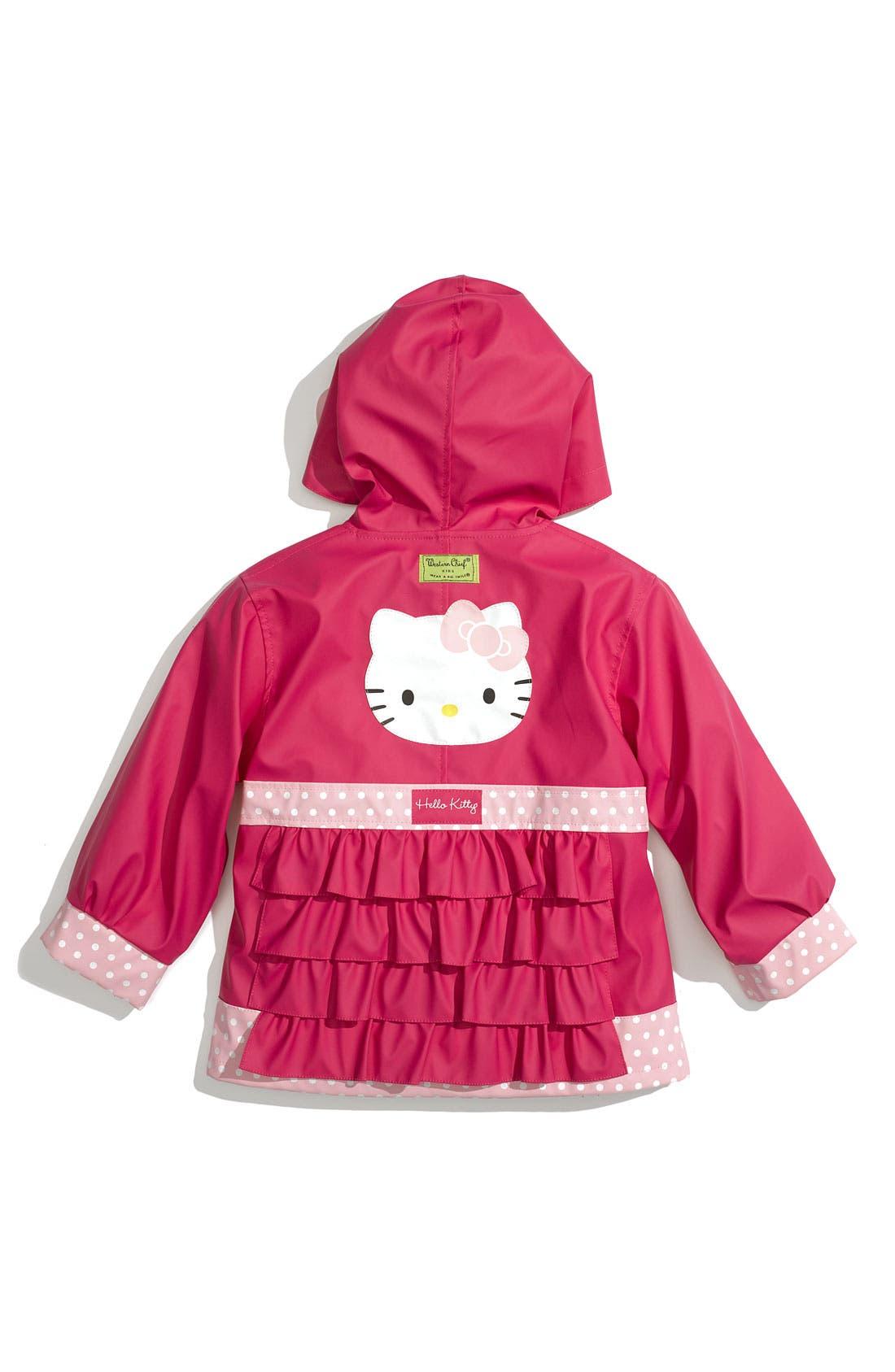 Alternate Image 2  - Western Chief 'Hello Kitty® Ruffles' Raincoat (Toddler Girls & Little Girls)