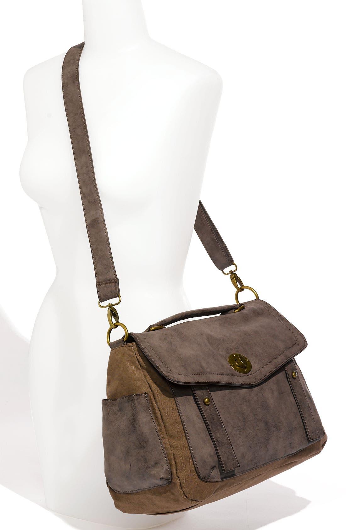 Alternate Image 4  - Cesca Vintage Weathered Faux Leather Satchel