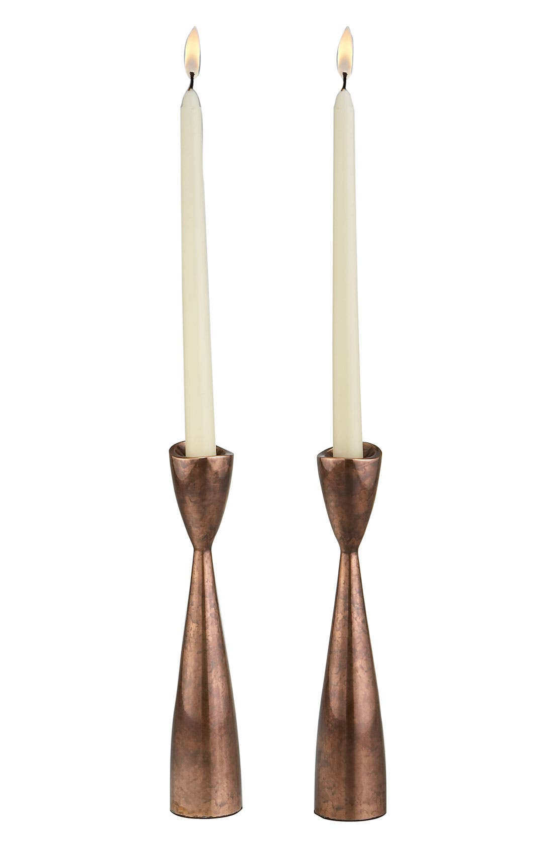 Alternate Image 1 Selected - Nambé 'Heritage Pebble' Candlesticks (Set of 2)