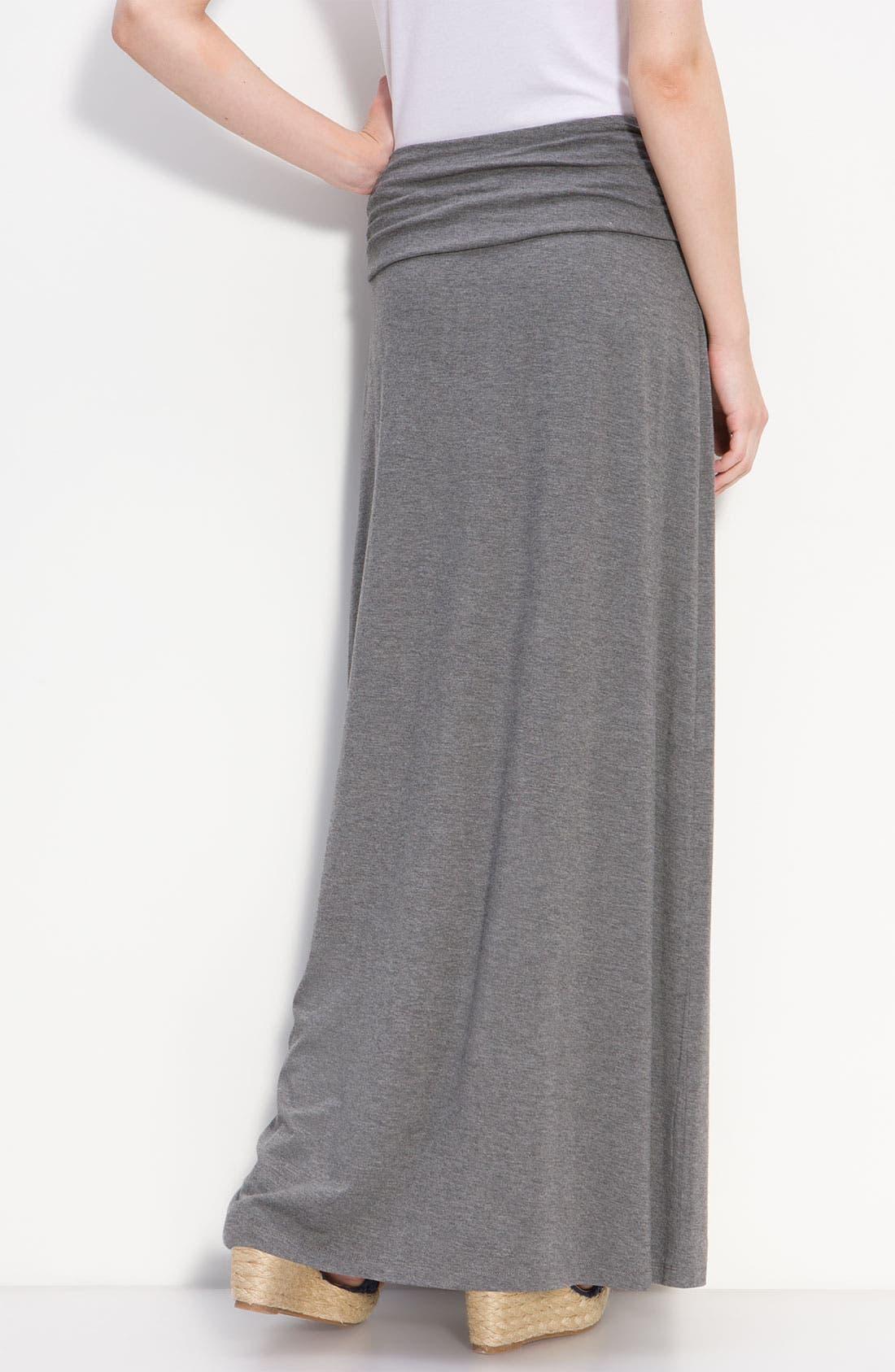 Alternate Image 2  - Caslon® Ruched Waist Maxi Skirt