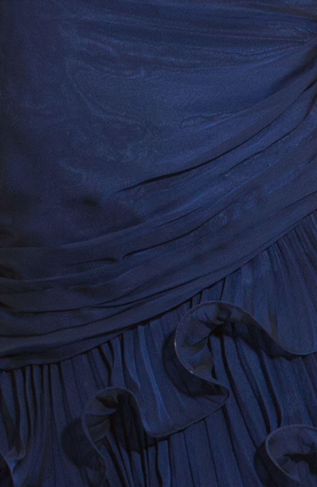 Alternate Image 3  - Dalia MacPhee Strapless Ruffle Chiffon Gown