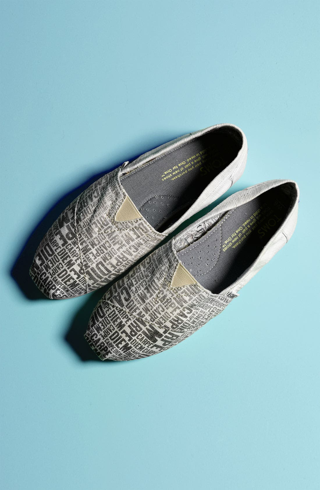 Alternate Image 5  - TOMS 'Classic - Carpe Diem' Canvas Slip-On (Women)