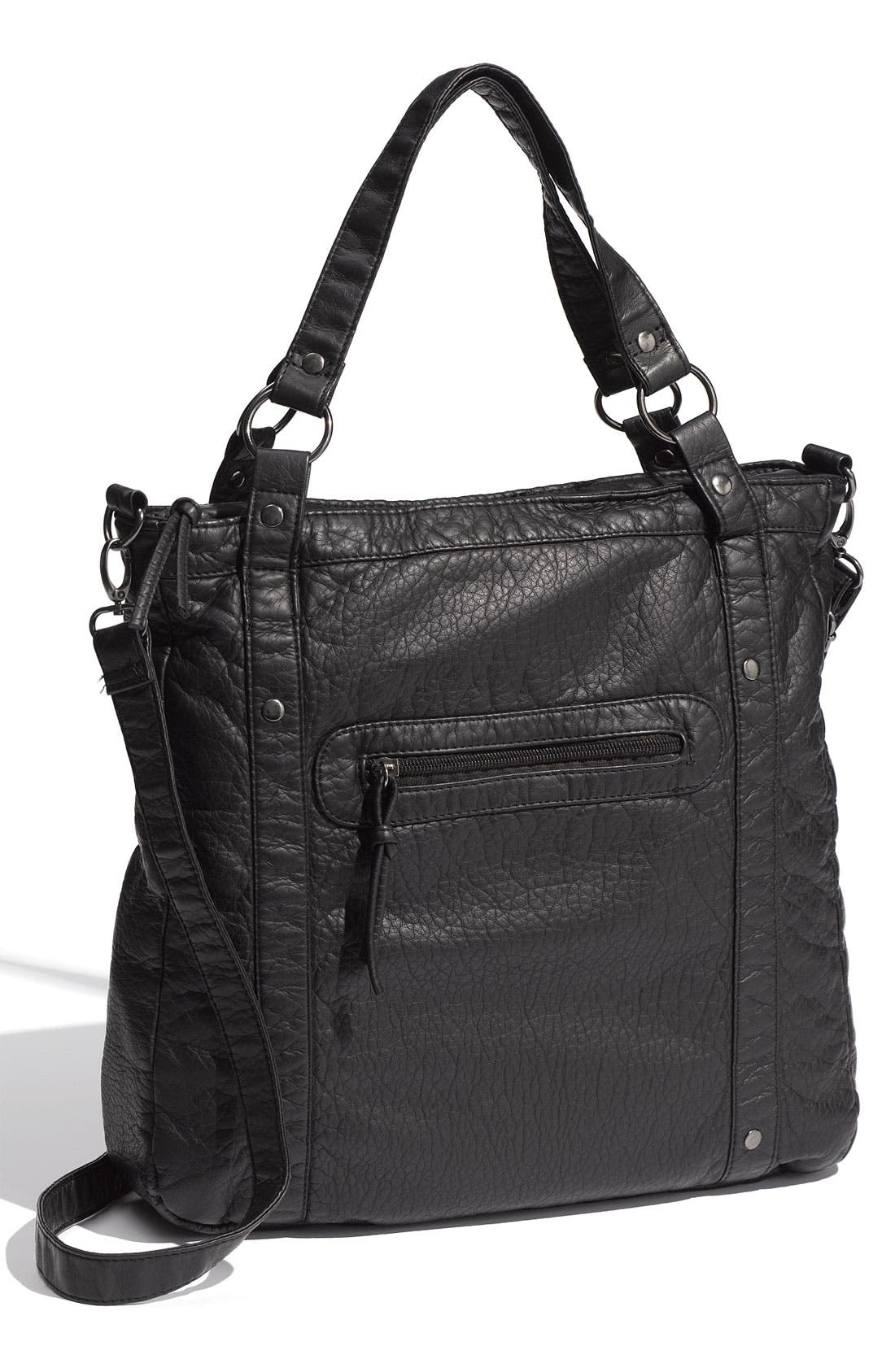 Main Image - Cesca 'Jane' Weathered Faux Leather Tote