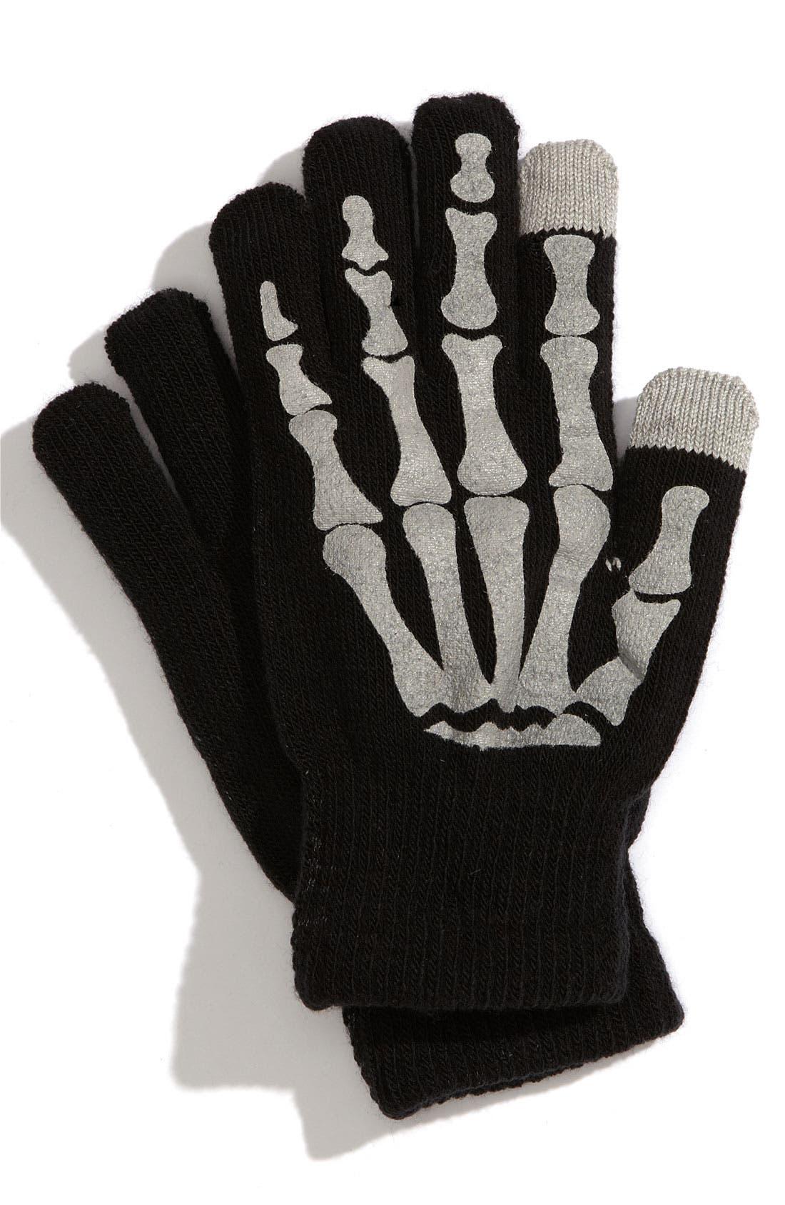 Main Image - Nolan Glove 'Skeleton' Gloves (Big Boys)