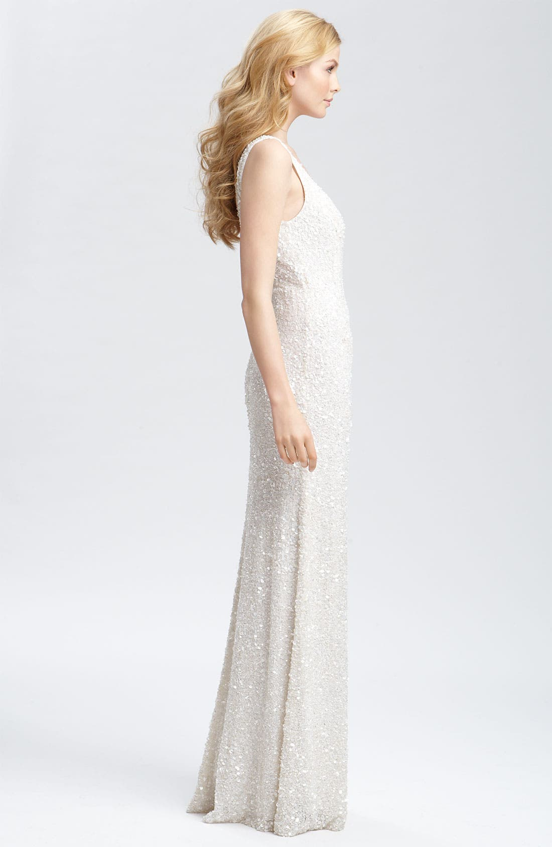 Alternate Image 3  - Theia Beaded Sleeveless Gown