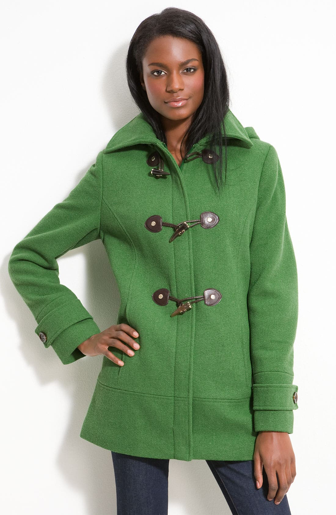 Alternate Image 1 Selected - Calvin Klein Wool Blend Duffle Coat