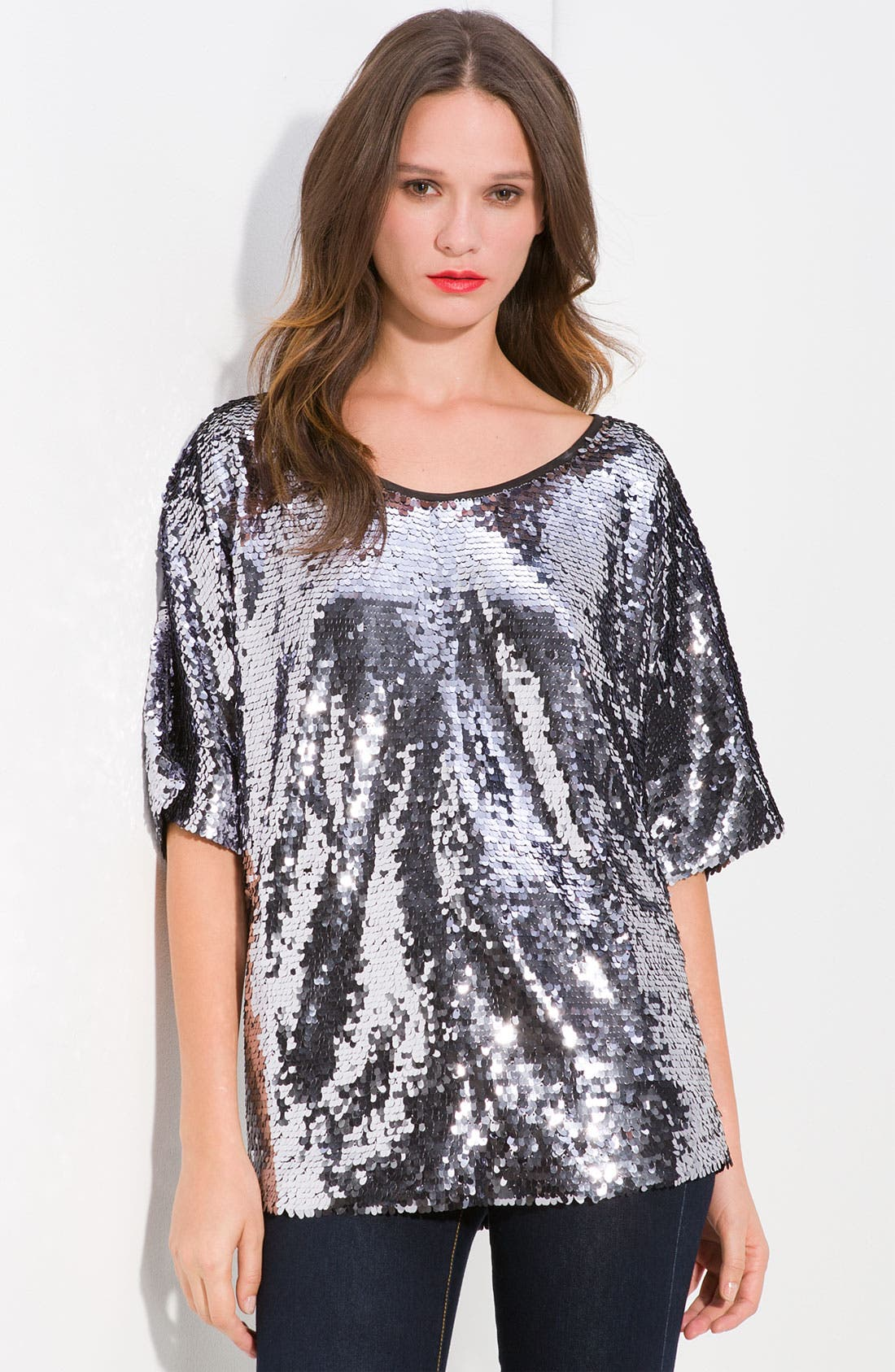 Alternate Image 1 Selected - Rachel Zoe Sequin Top