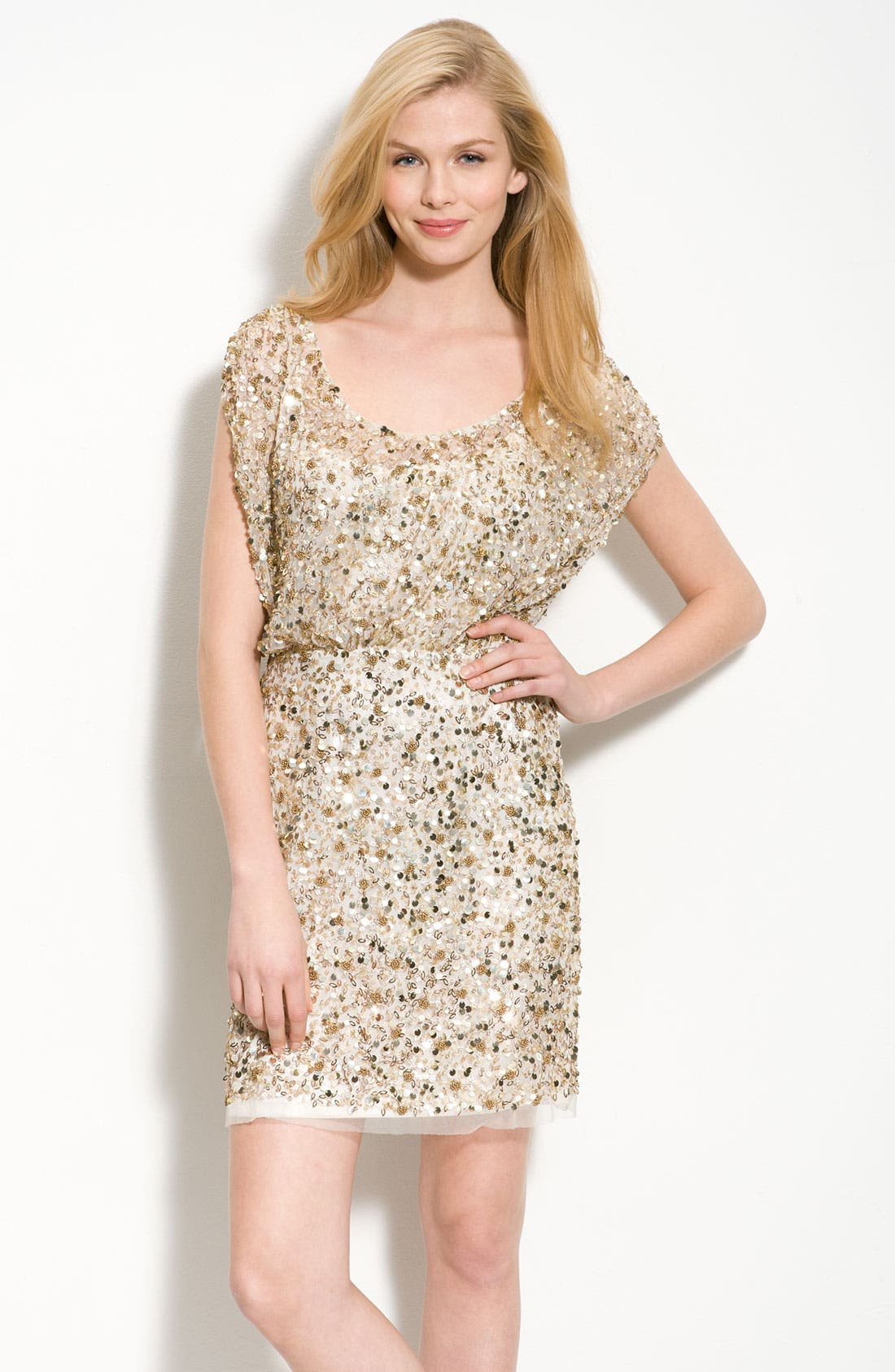 Main Image - Aidan Mattox Beaded Blouson Dress