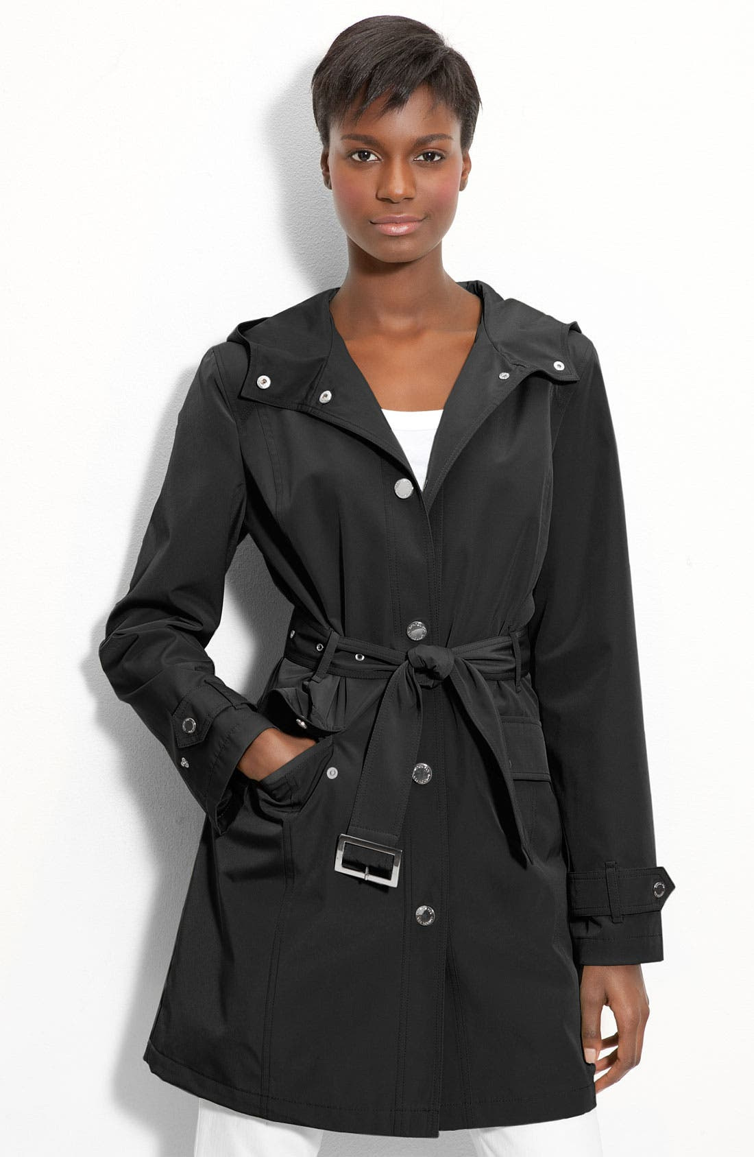 Main Image - London Fog Hooded Trench Coat