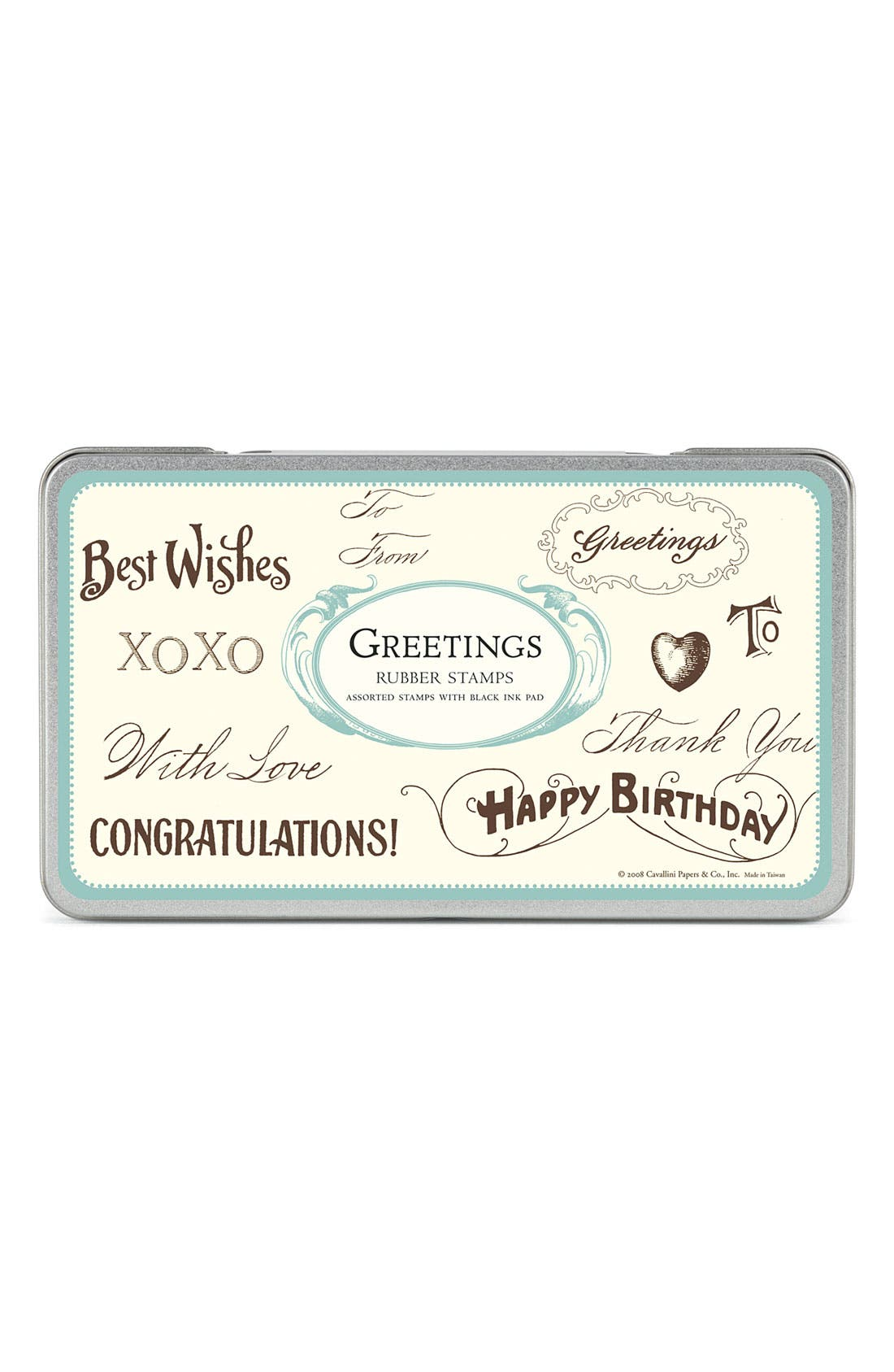 Alternate Image 1 Selected - Cavallini & Co. 'Greetings' Rubber Stamps