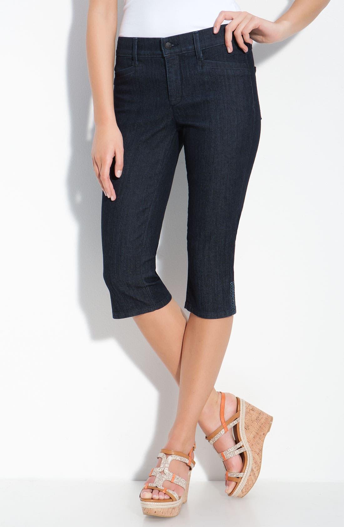 Alternate Image 1 Selected - NYDJ 'Joan' Embellished Crop Stretch Jeans