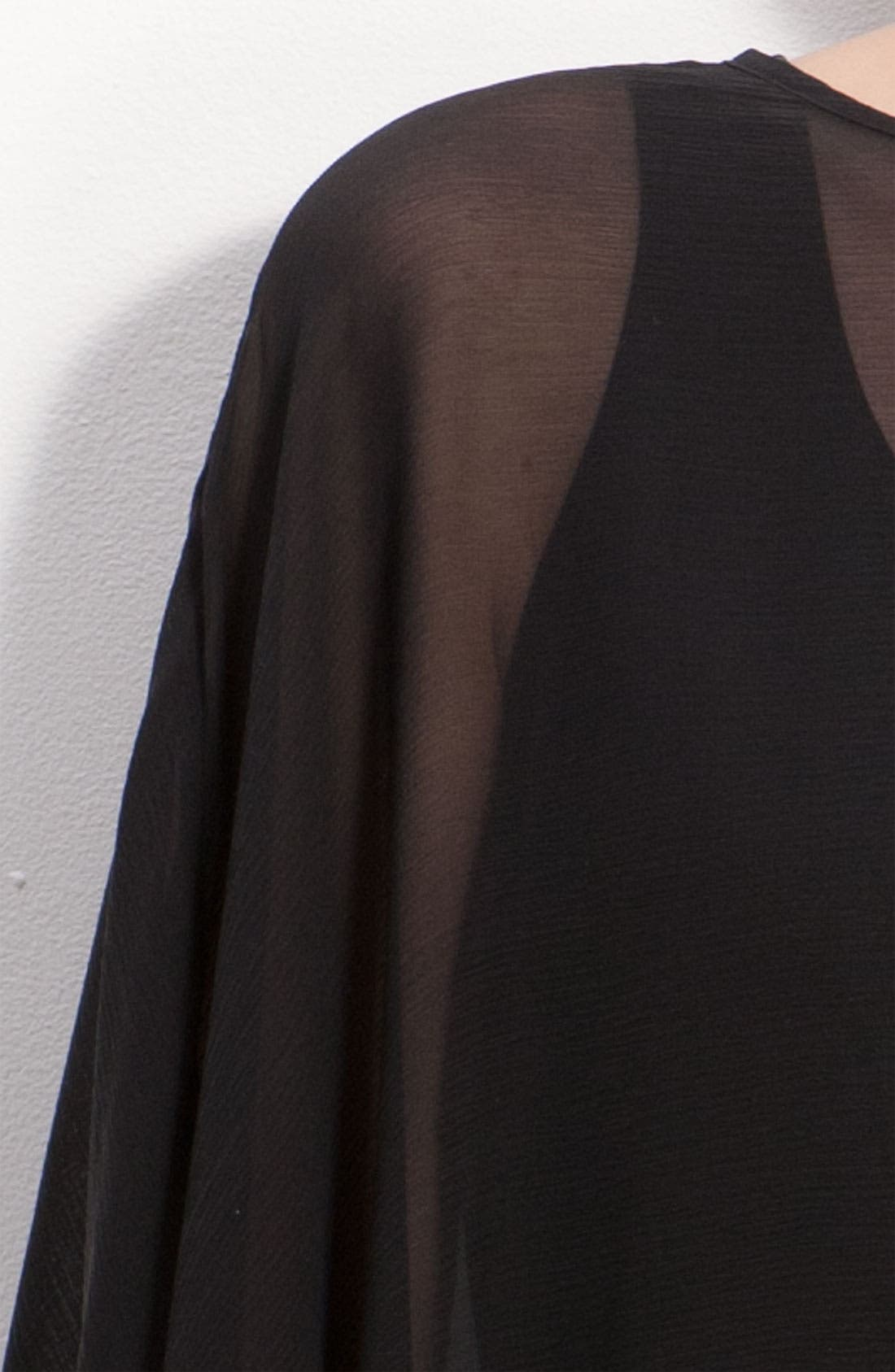 Alternate Image 3  - St. John Collection Stretch Silk Georgette Poncho Top