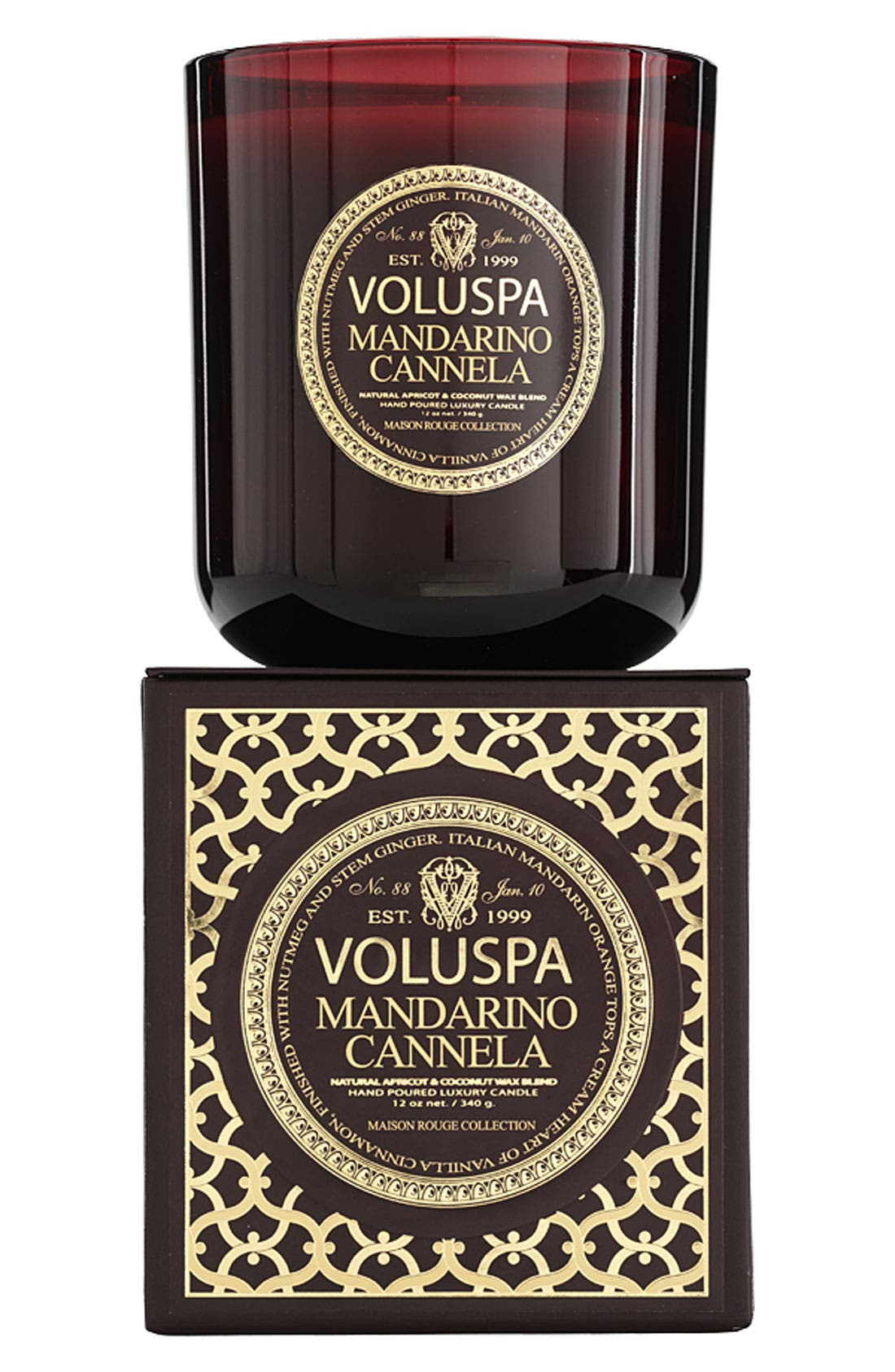 Main Image - Voluspa 'Maison Rouge - Mandarino Cannela' Scented Candle