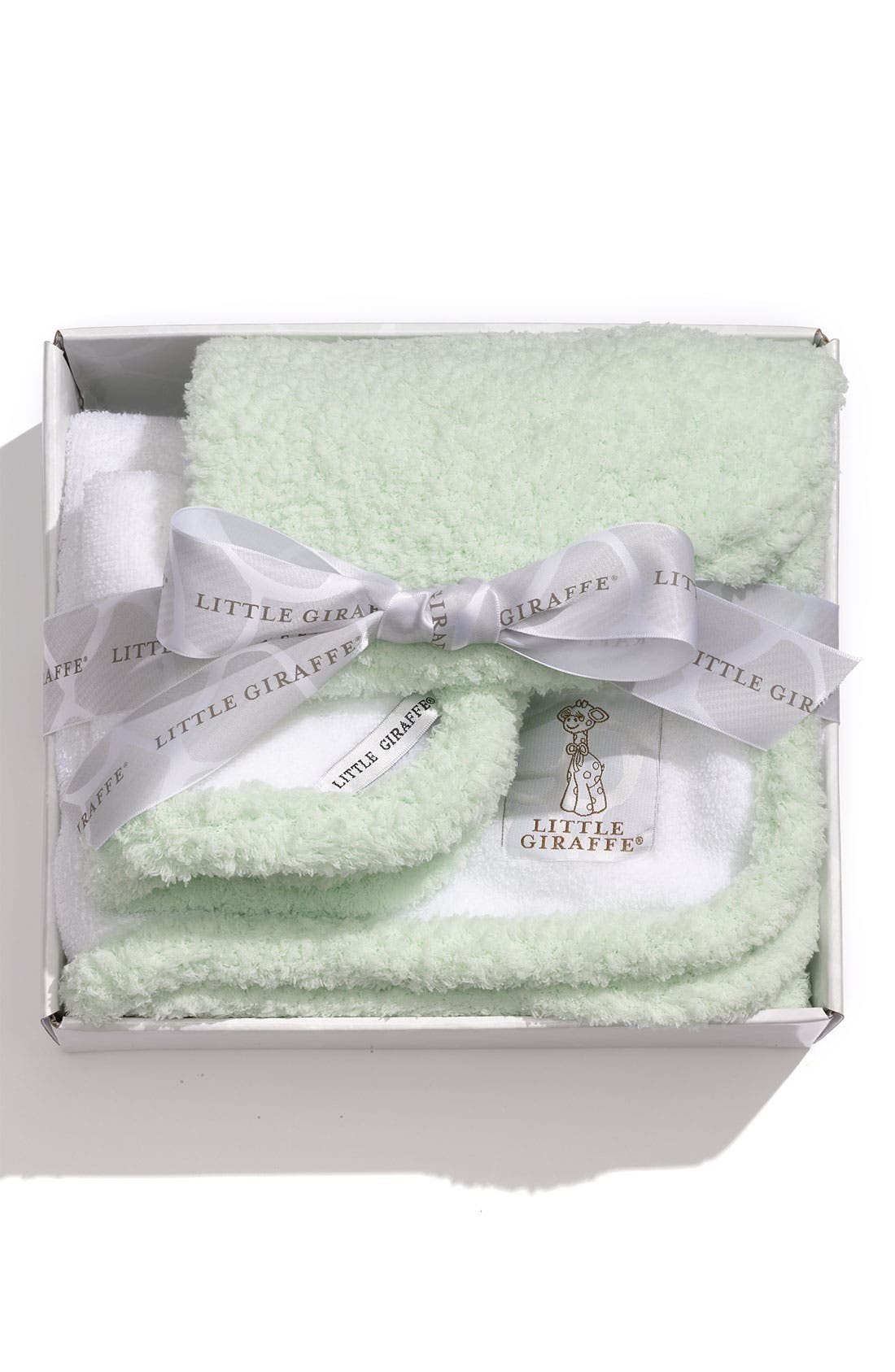 Alternate Image 2  - Little Giraffe Towel & Washcloth Set (Infant & Toddler)
