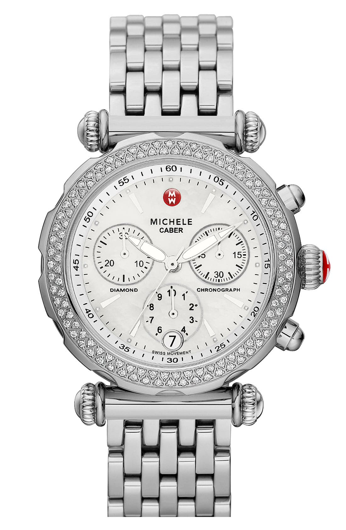 Alternate Image 1 Selected - MICHELE 'Caber Sport' Customizable Diamond Watch