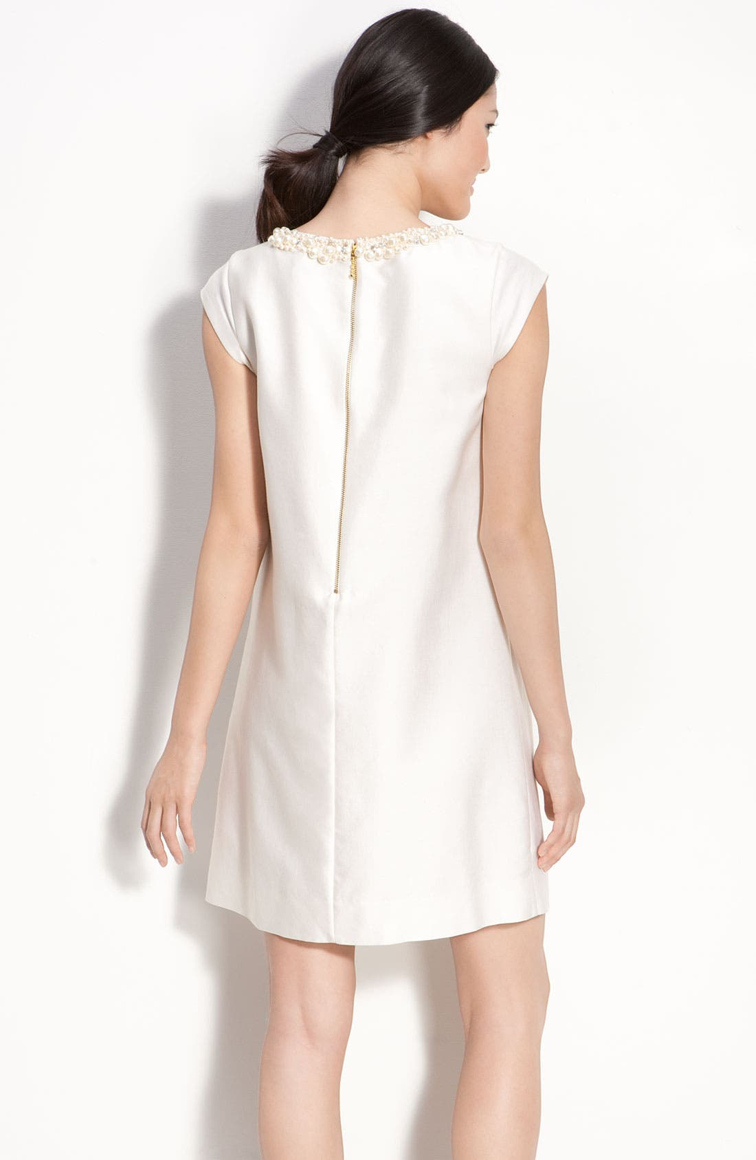 Alternate Image 2  - kate spade new york 'nico' embellished silk shift dress