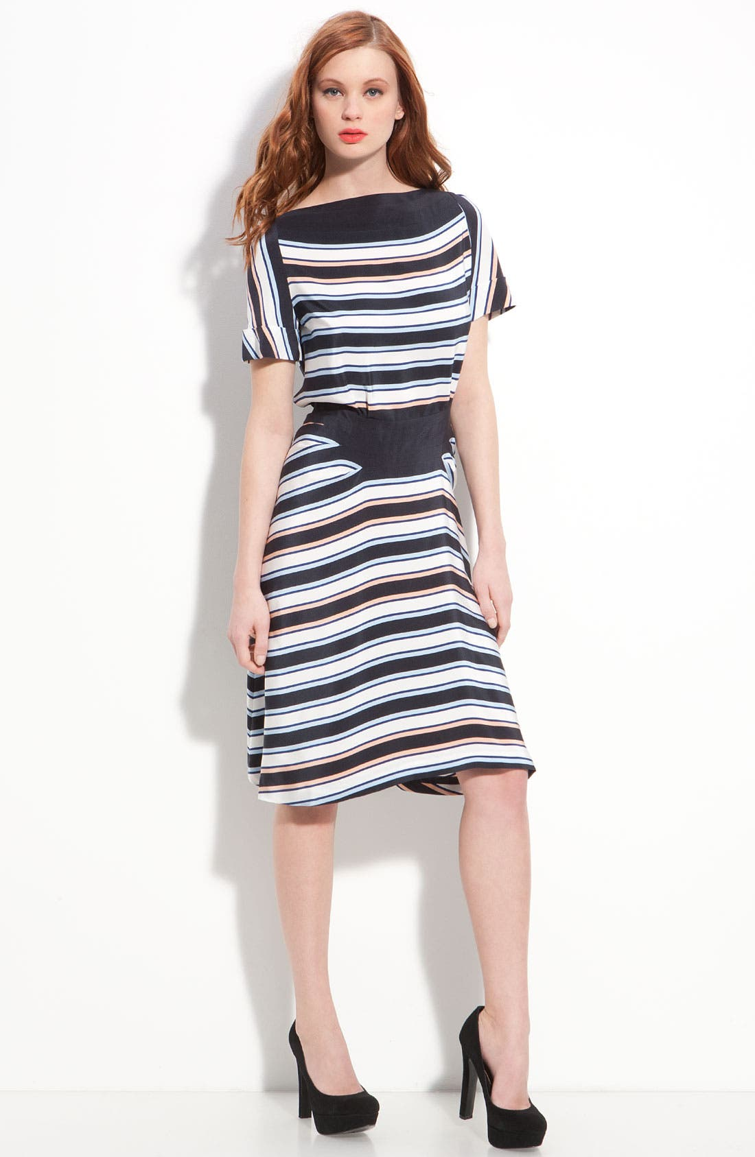 Alternate Image 4  - MARC BY MARC JACOBS 'Jacobson' Stripe Silk Dress