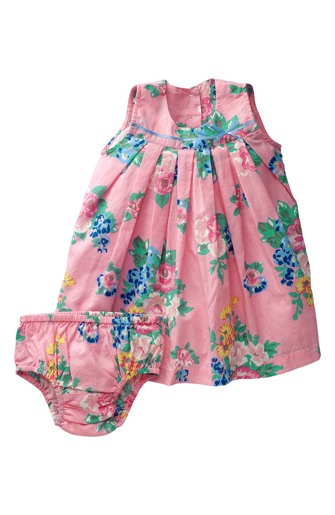 Alternate Image 1 Selected - Mini Boden Pleated Day Dress (Infant)