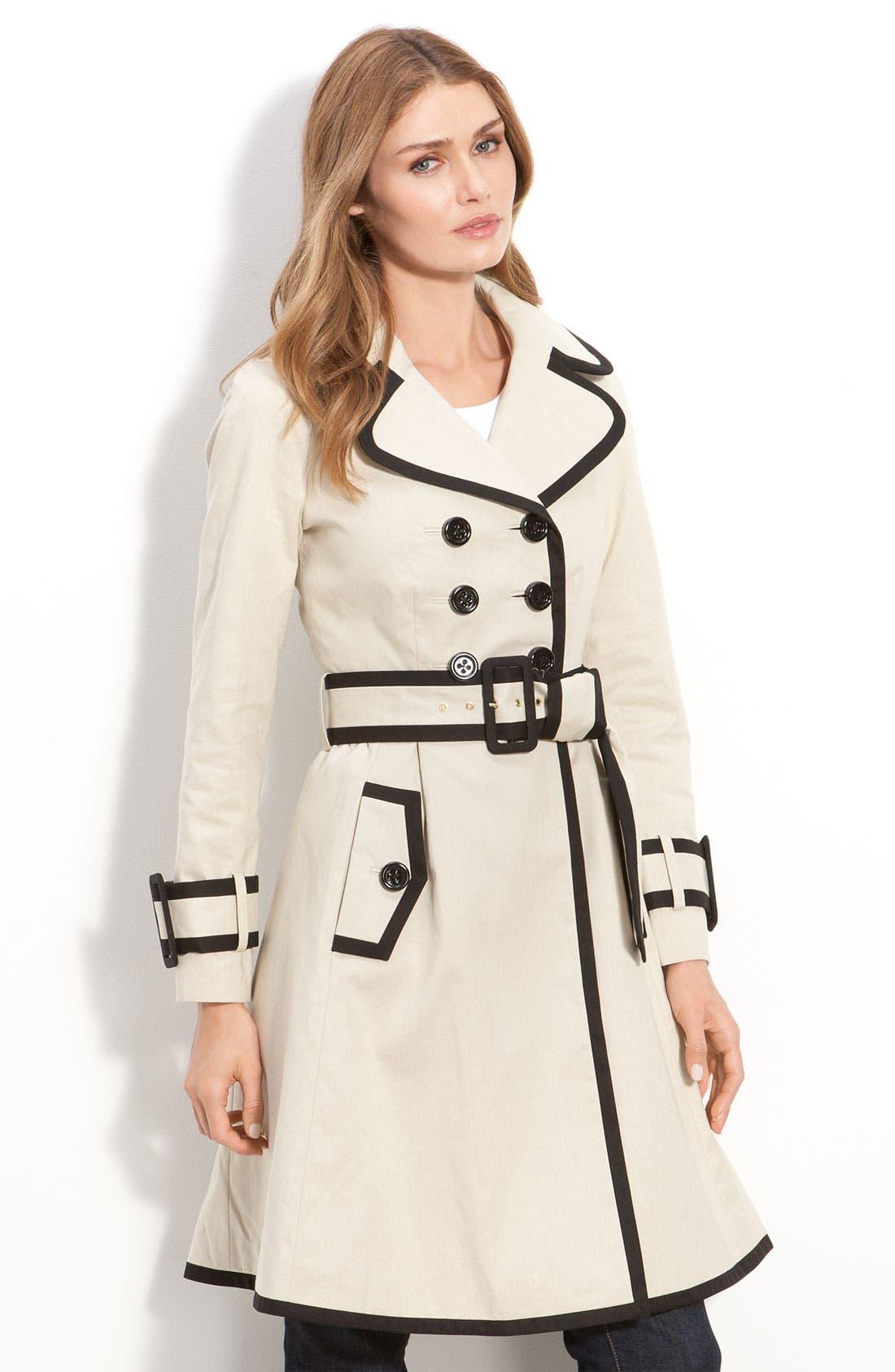 Alternate Image 2  - kate spade new york 'topliner' contrast trim trench coat