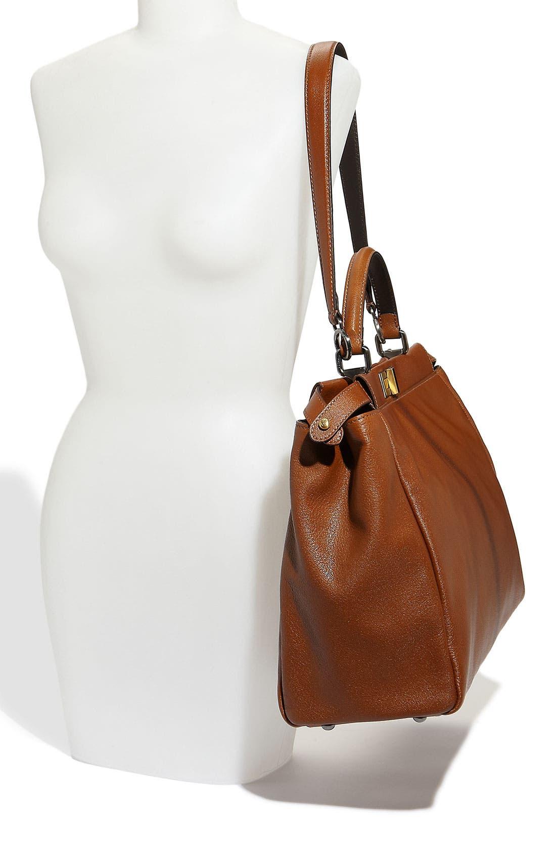 Alternate Image 2  - Fendi 'Peekaboo - Large' Goatskin Leather Satchel