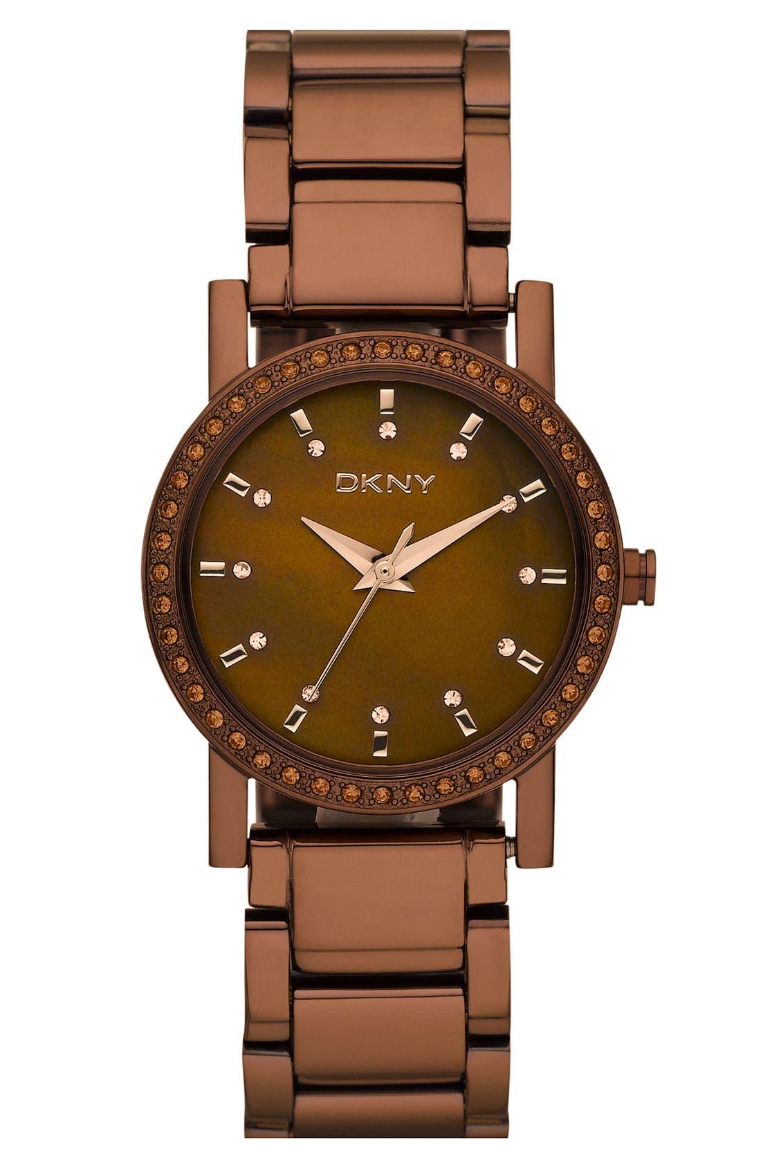 Alternate Image 1 Selected - DKNY Stainless Steel Crystal Bracelet Watch