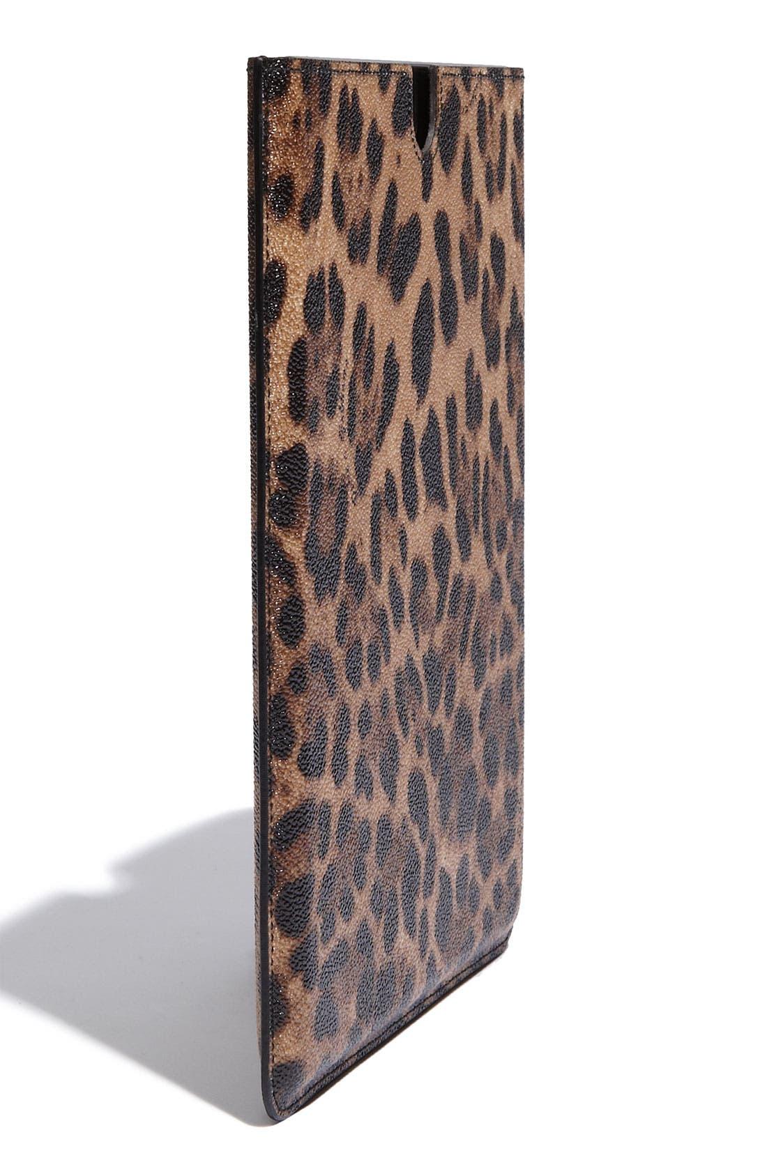 Alternate Image 2  - Dolce&Gabbana Leopard Print iPad Case