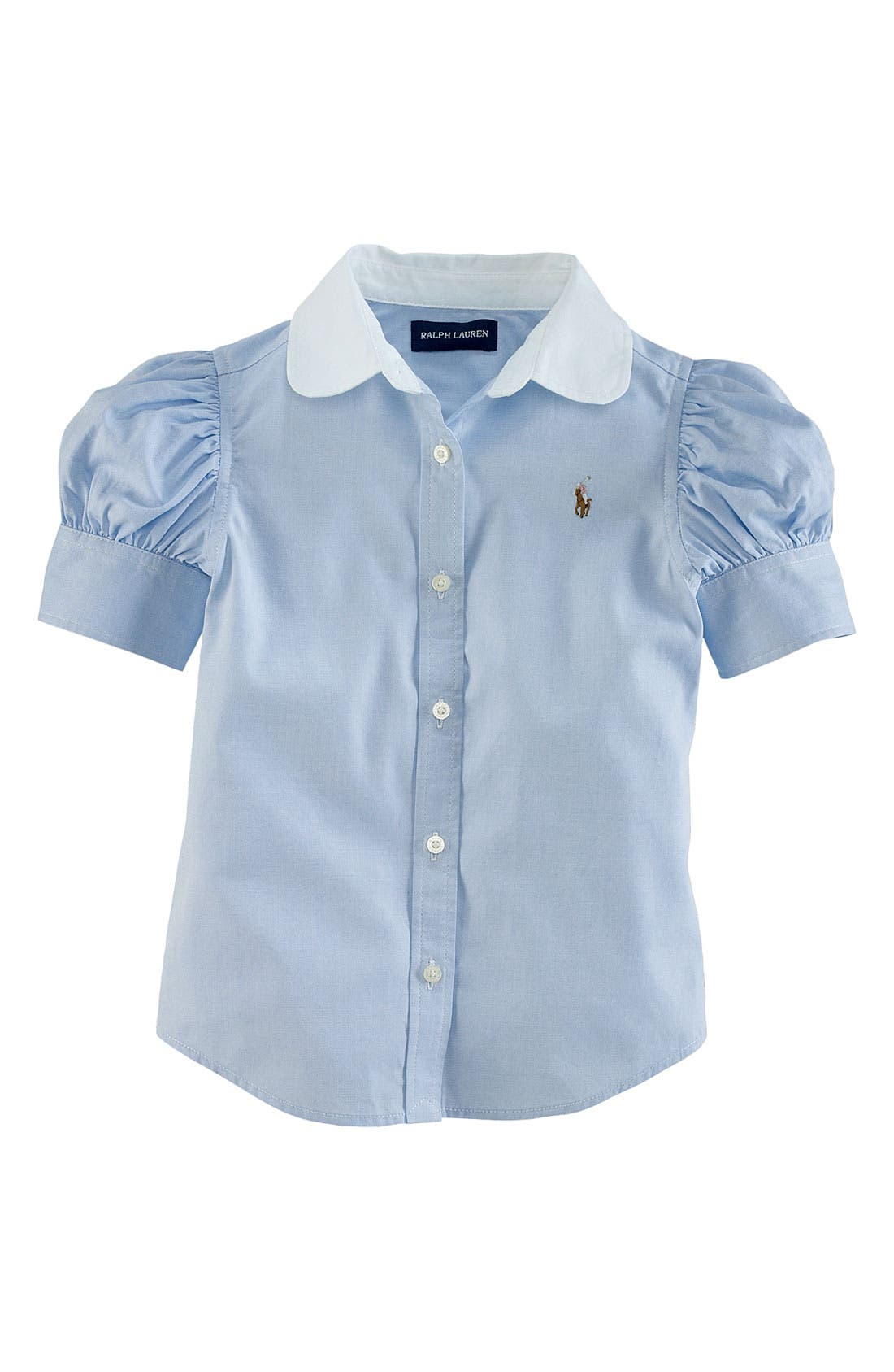 Alternate Image 1 Selected - Ralph Lauren Pinpoint Oxford Shirt (Toddler)