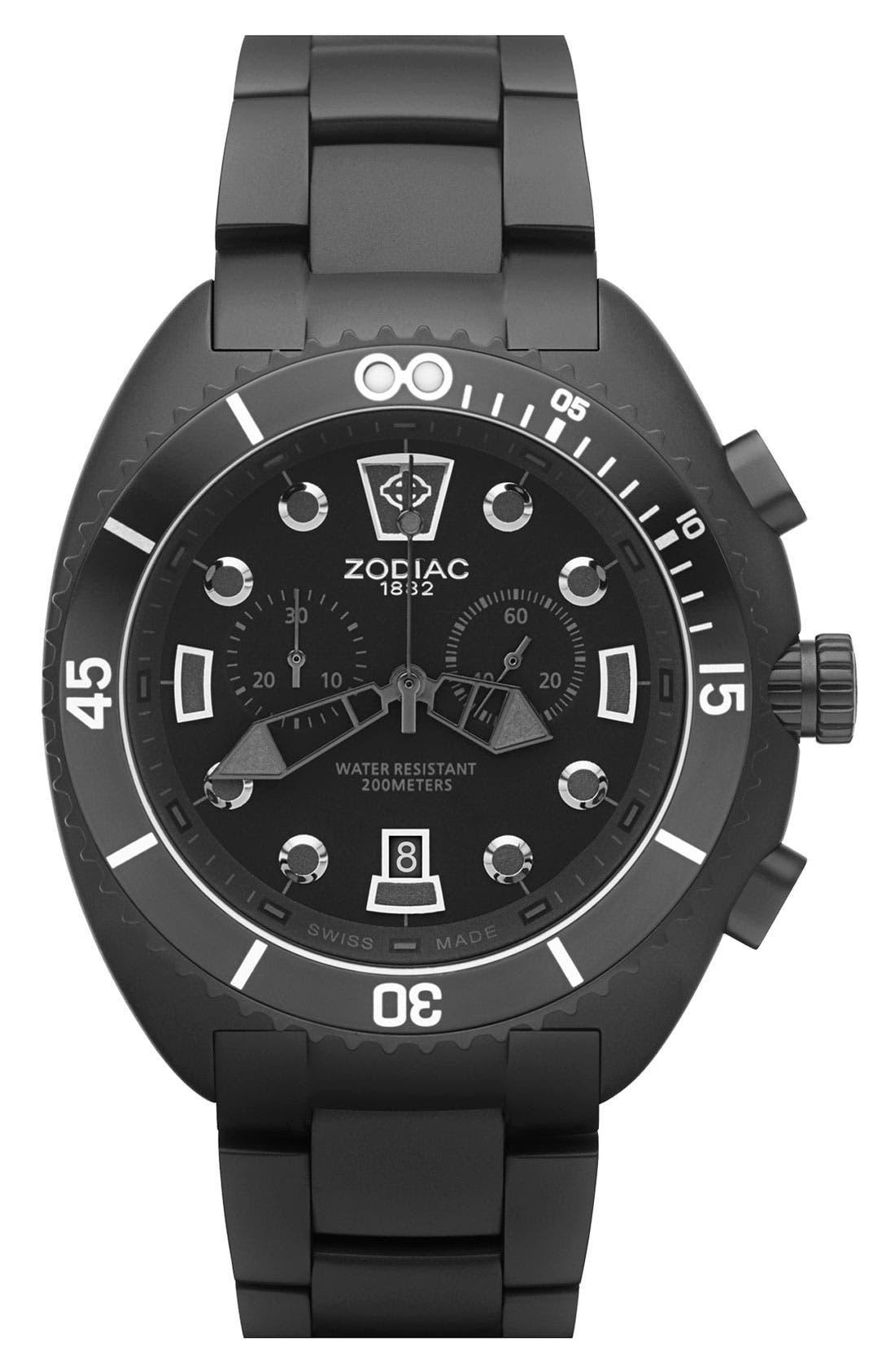 Alternate Image 1 Selected - Zodiac 'Oceanaire' Round Bracelet Watch