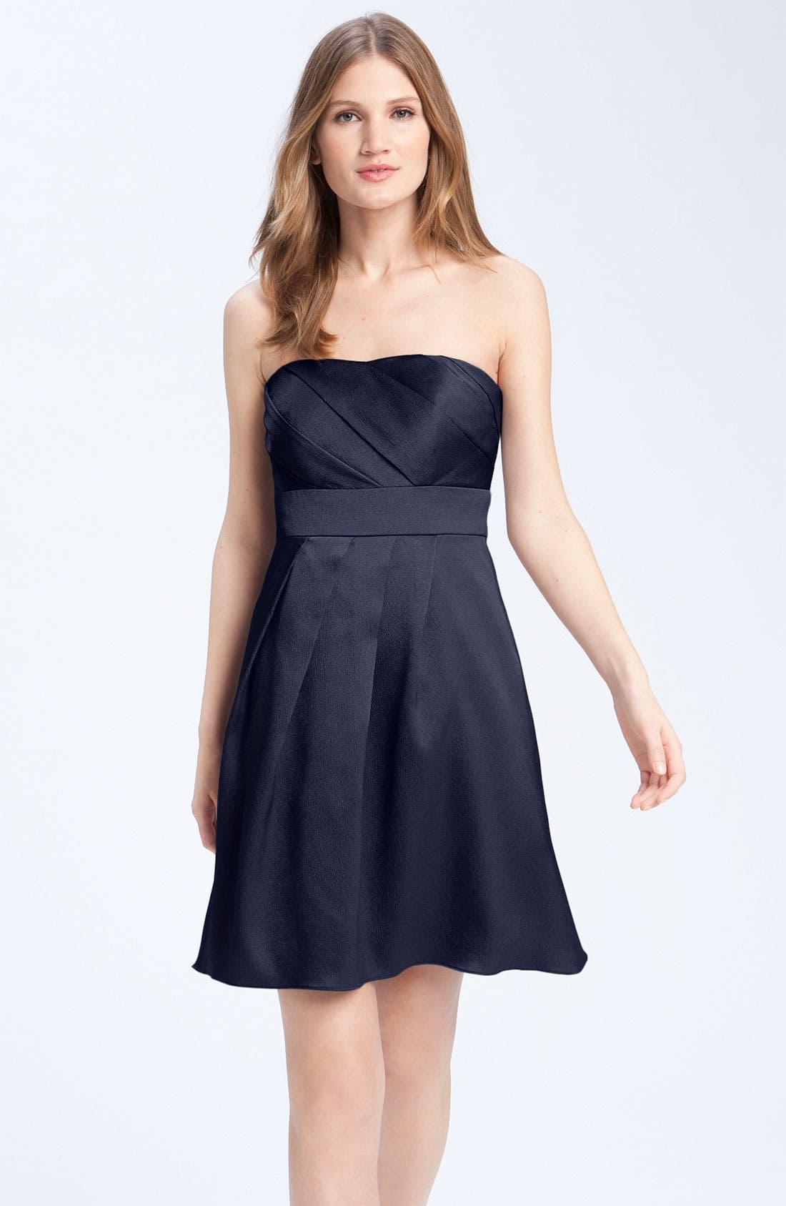 Alternate Image 1 Selected - Jenny Yoo Hammered Satin Strapless Dress