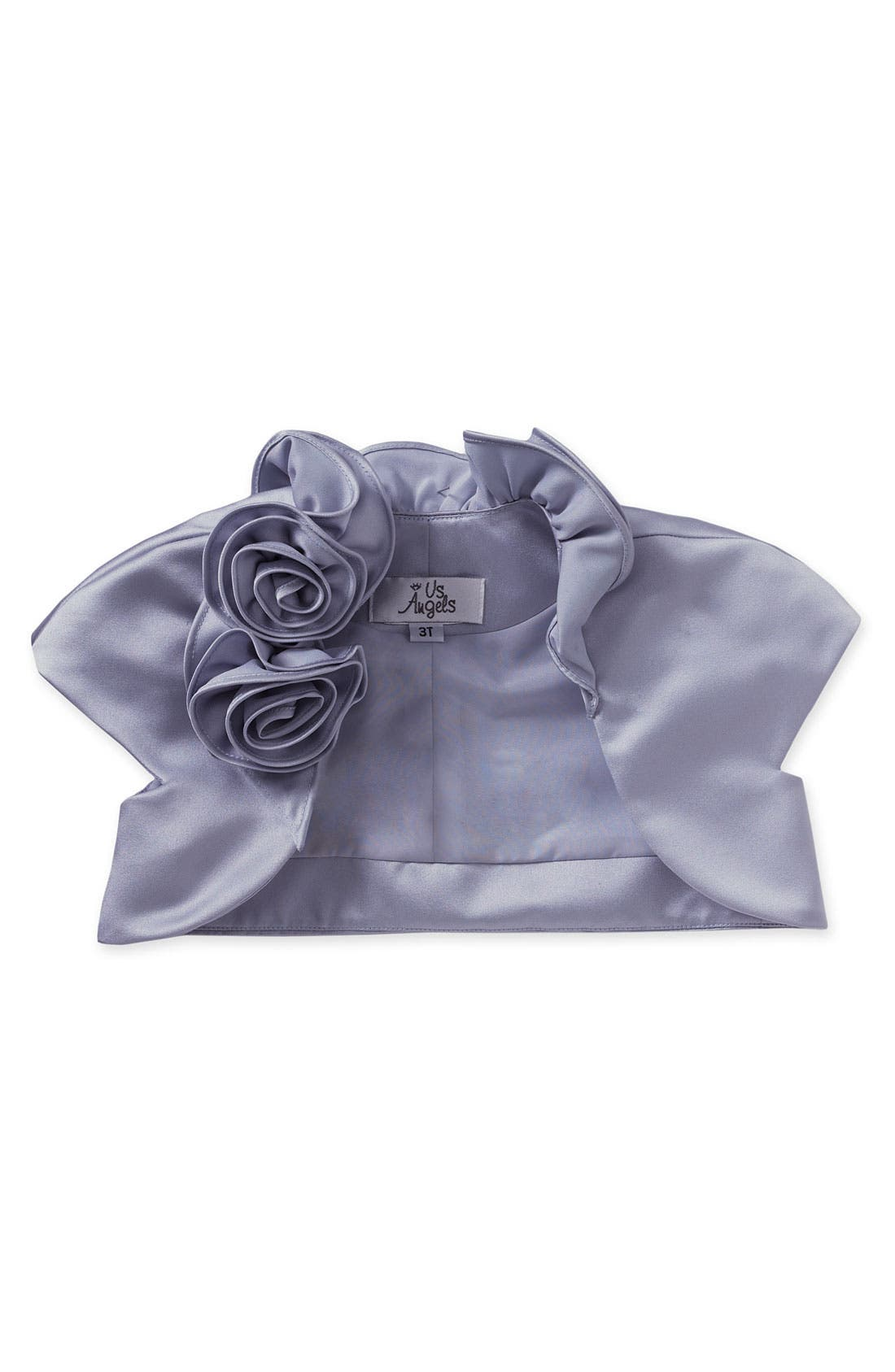 Alternate Image 1 Selected - Us Angels Cap Sleeve Satin Bolero (Baby Girls, Toddler Girls, Little Girls & Big Girls)