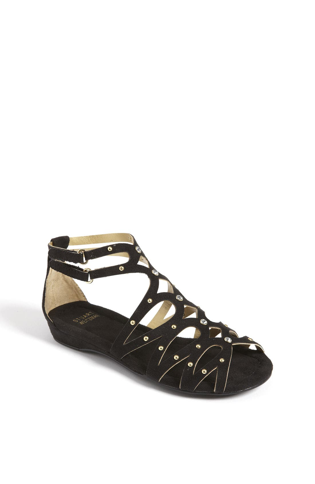 Alternate Image 1 Selected - Stuart Weitzman 'Goldigger' Sandal (Toddler, Little Kid & Big Kid)