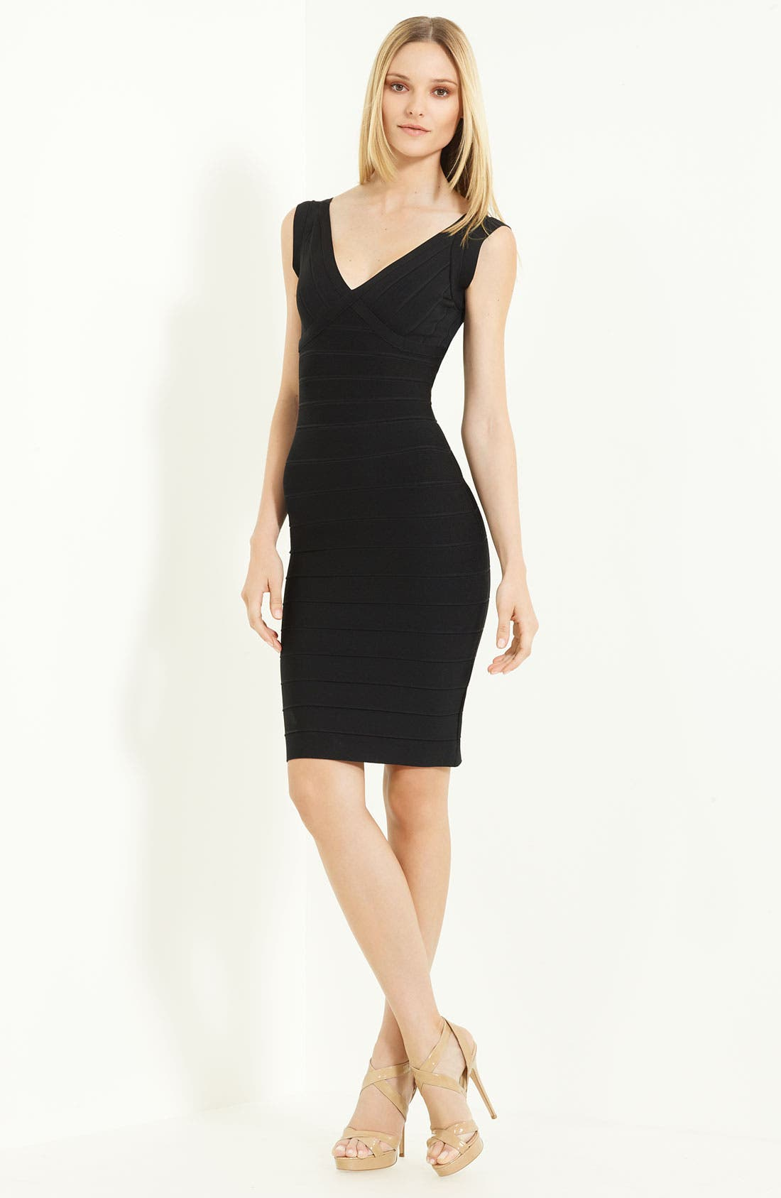 Alternate Image 1 Selected - Herve Leger V-Neck Bandage Dress