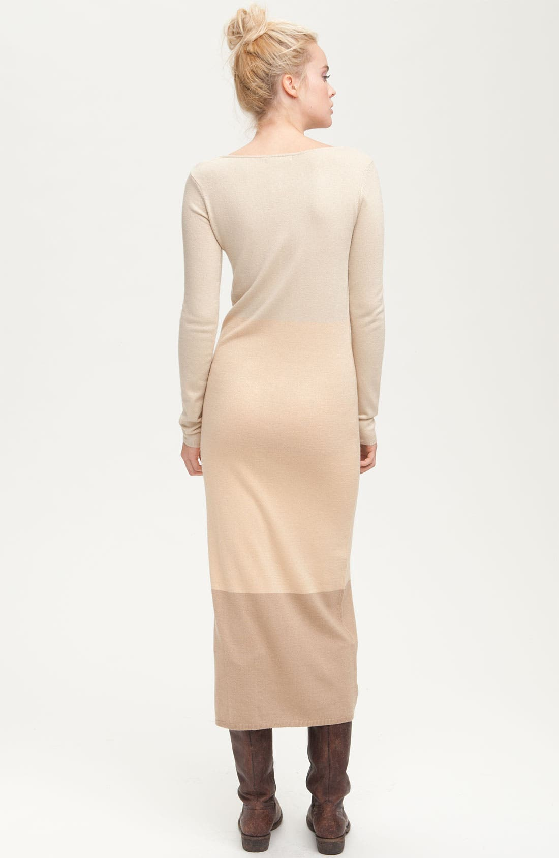 Alternate Image 2  - Paper Crown 'Clove' Long Sleeve Colorblock Maxi Dress