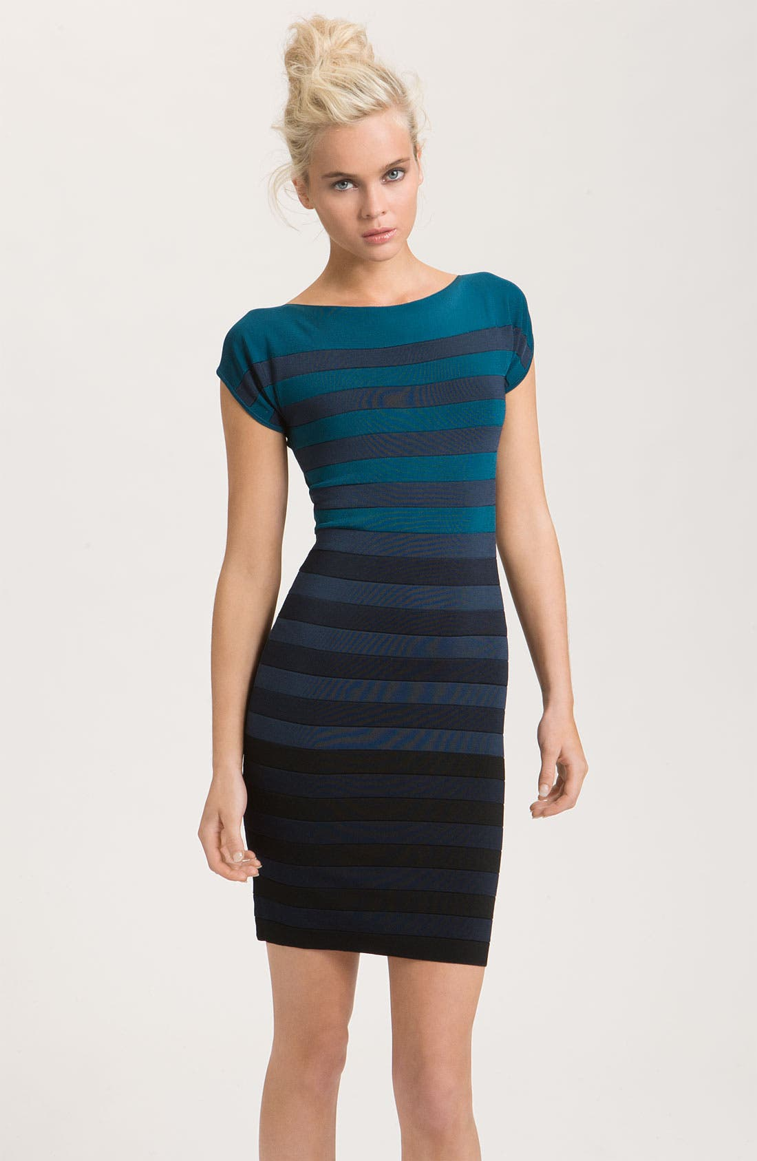Main Image - French Connection 'Ribbon Stripe' Knit Sheath Dress