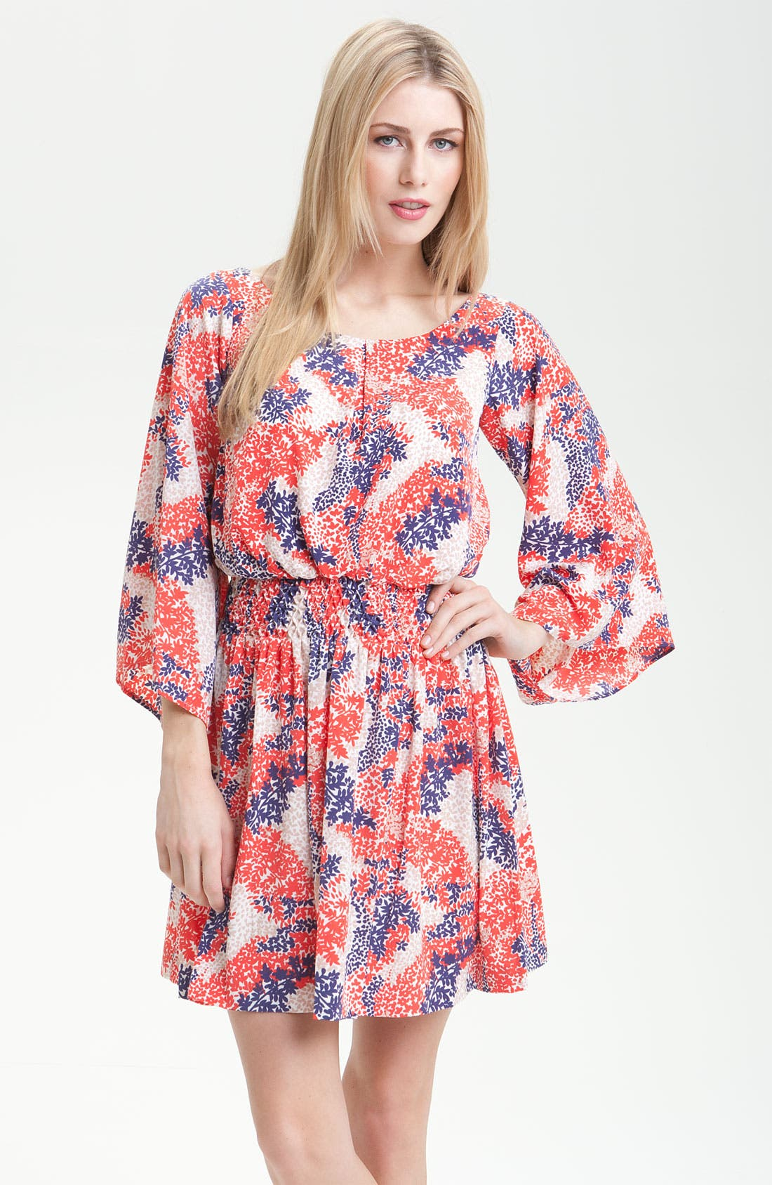 Main Image - Jessica Simpson Smock Waist Kimono Sleeve Dress