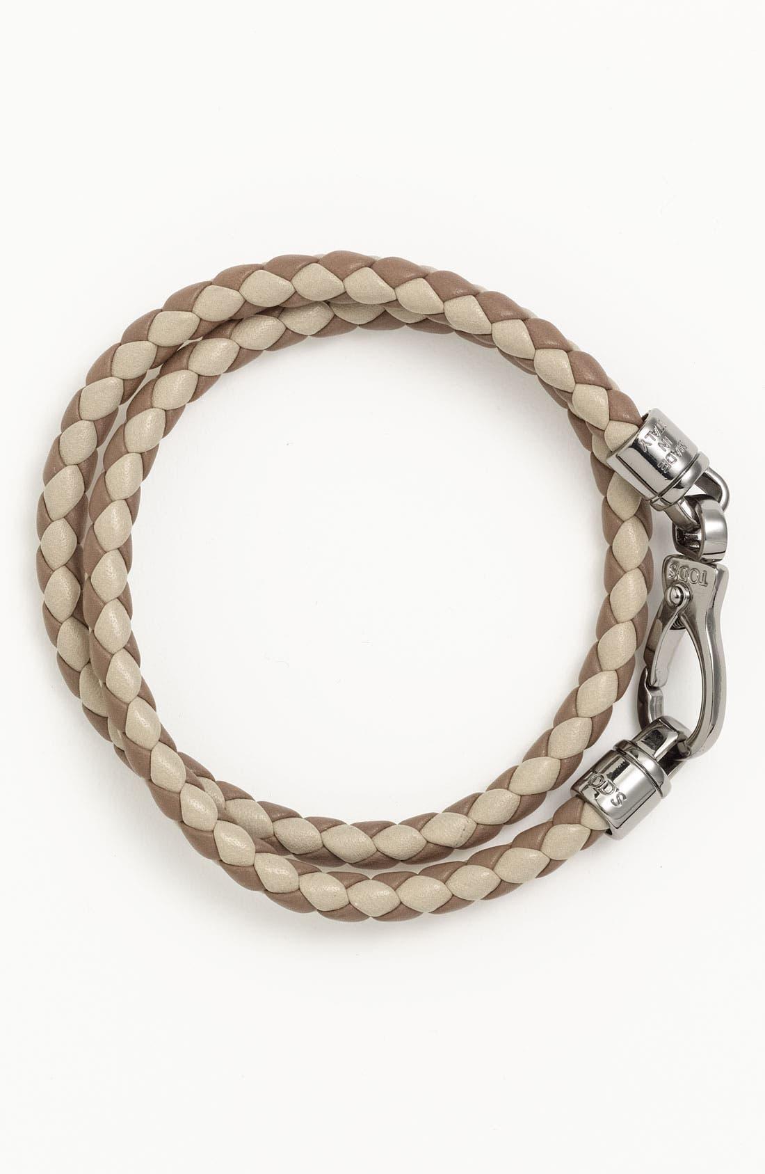 Main Image - Tod's Braided Leather Bracelet