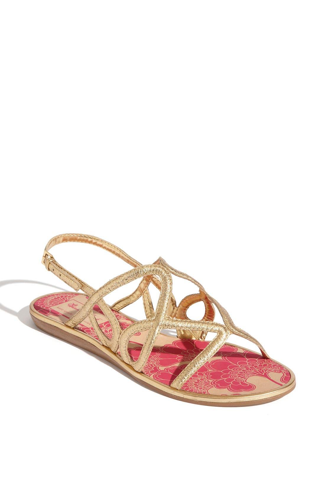 Alternate Image 1 Selected - kate spade new york 'iris' flat sandal