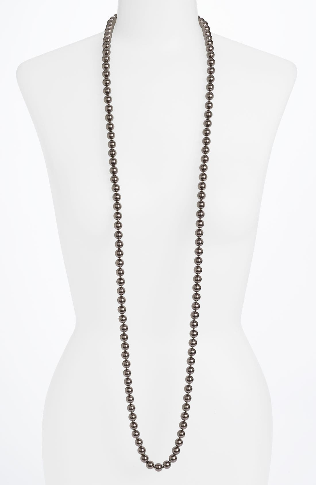 Main Image - Givenchy Glass Pearl Rope Necklace