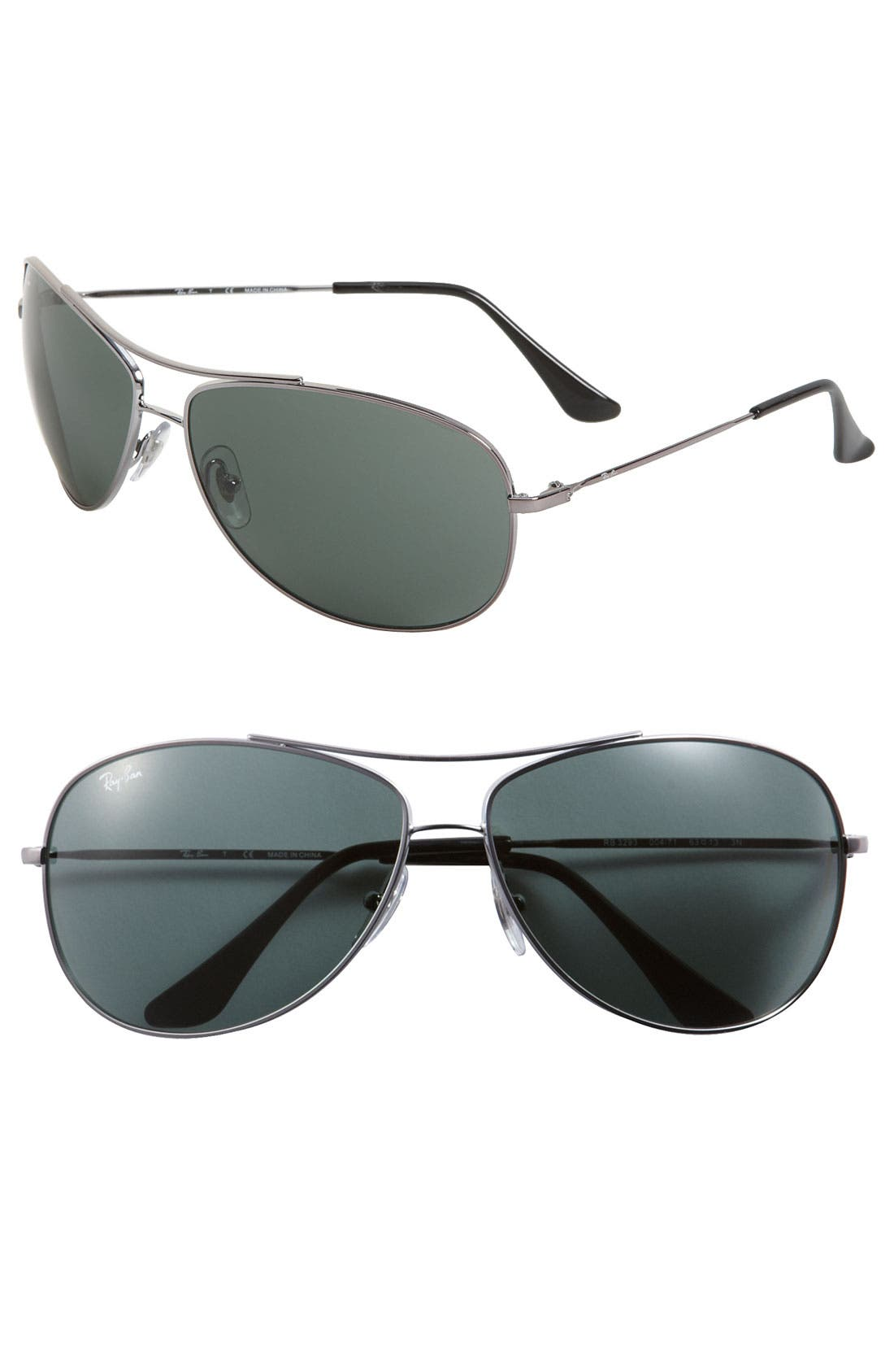 Alternate Image 1 Selected - Ray-Ban 'Bubble Wrap' 63mm Aviator Sunglasses