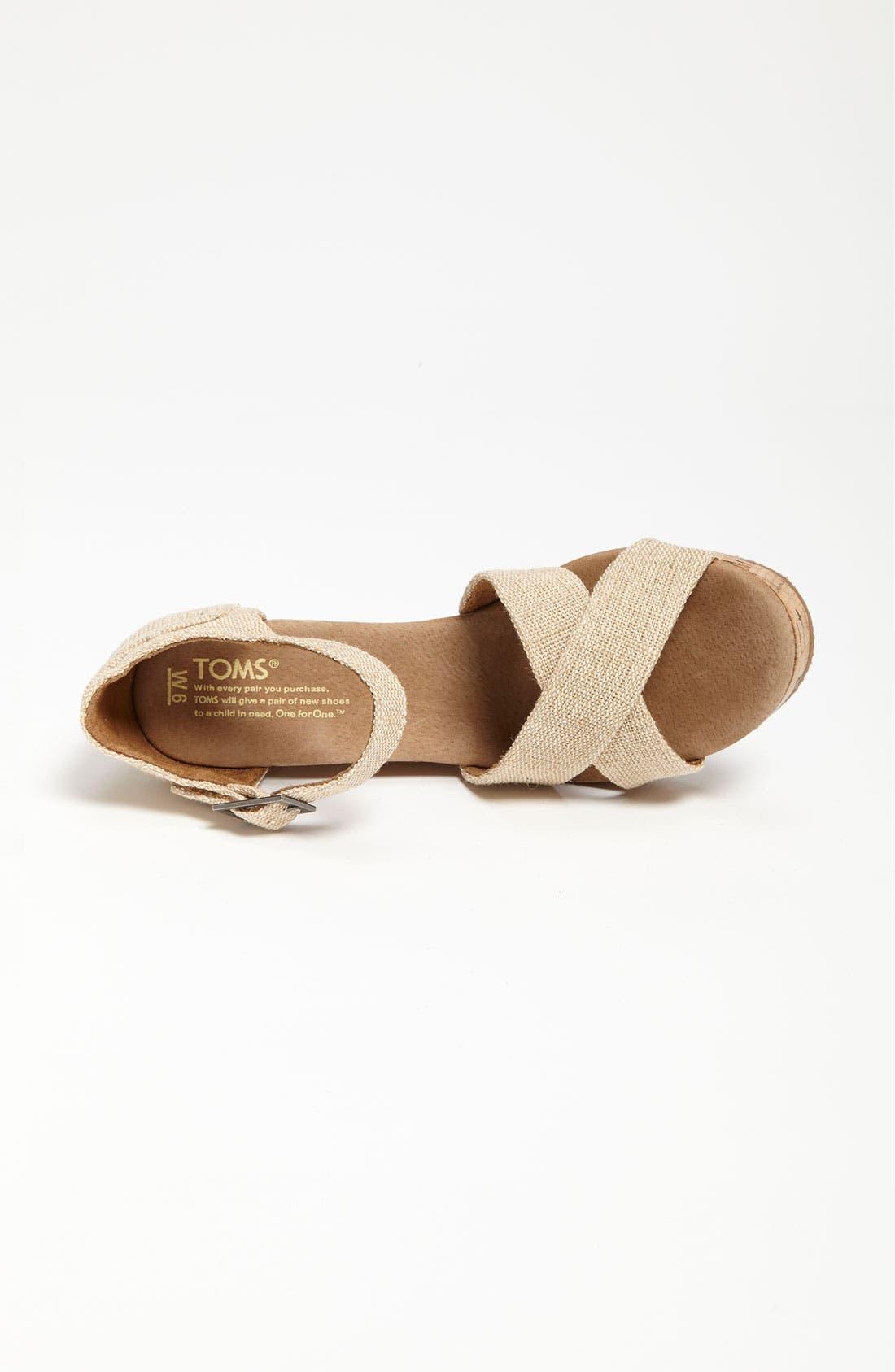 Alternate Image 3  - TOMS 'Sierra' Wedge Sandal