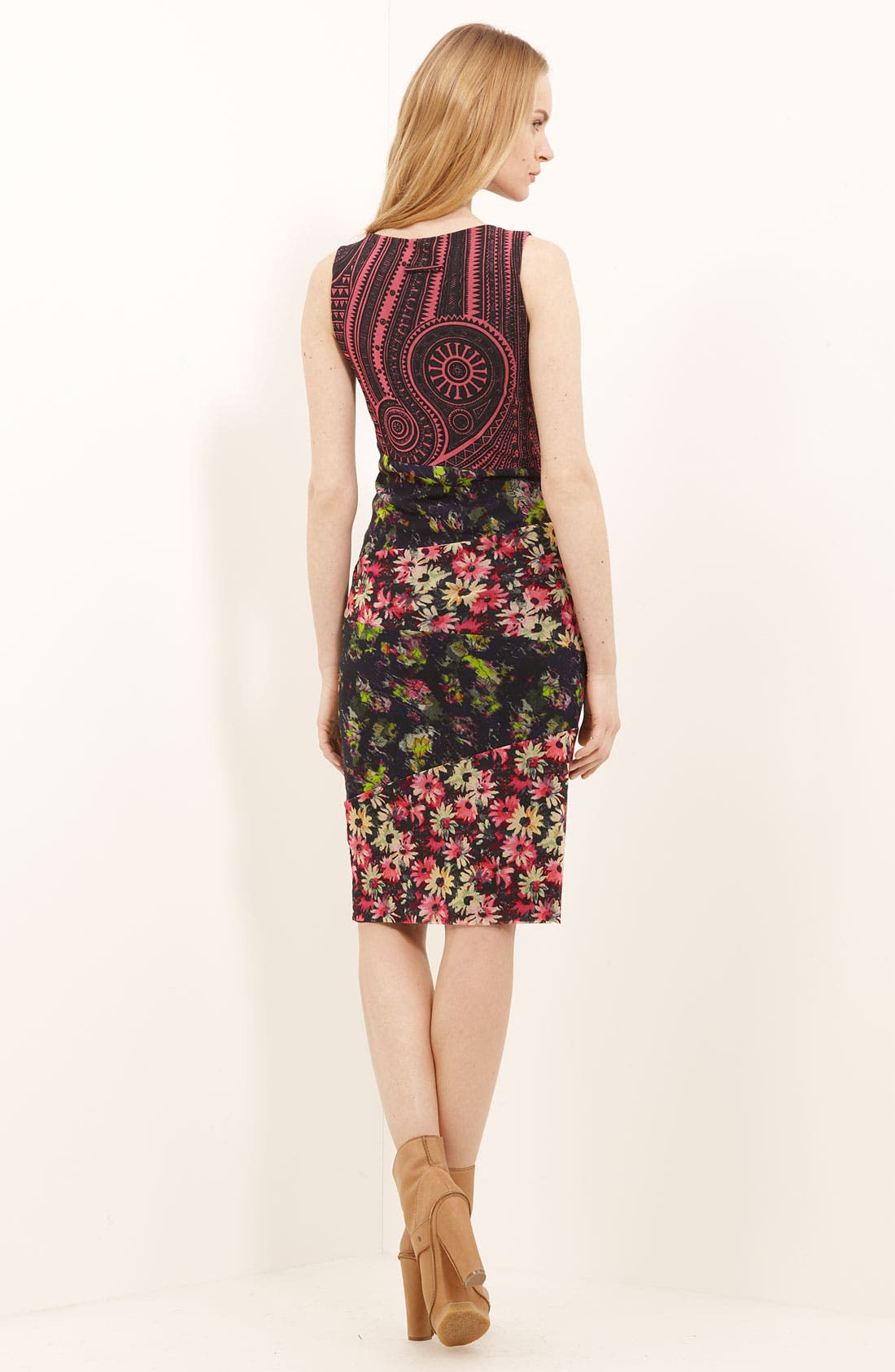 Alternate Image 2  - Jean Paul Gaultier Fuzzi Patchwork Print Tulle Dress